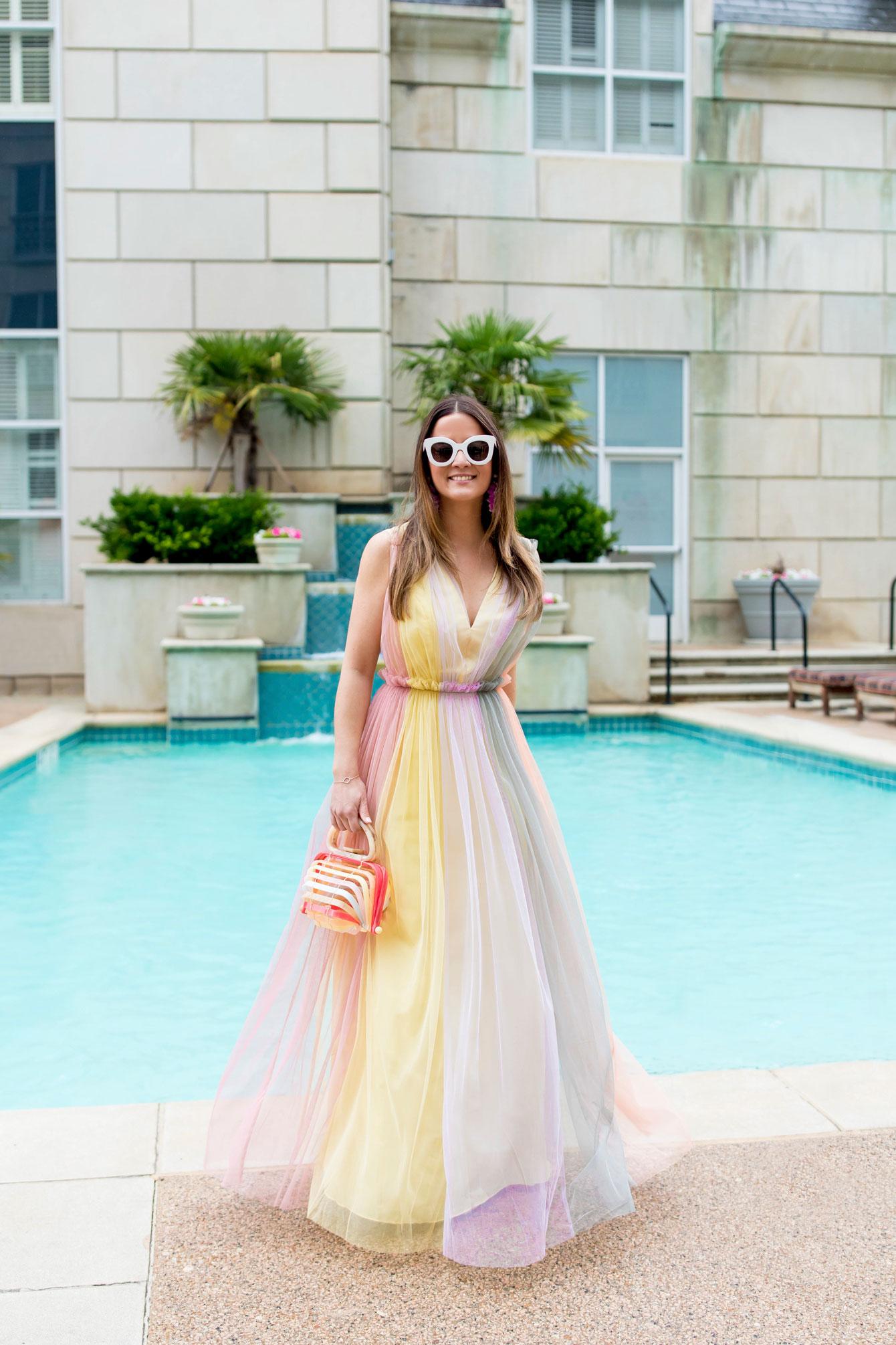 Jennifer Lake Pastel ASOS Gown