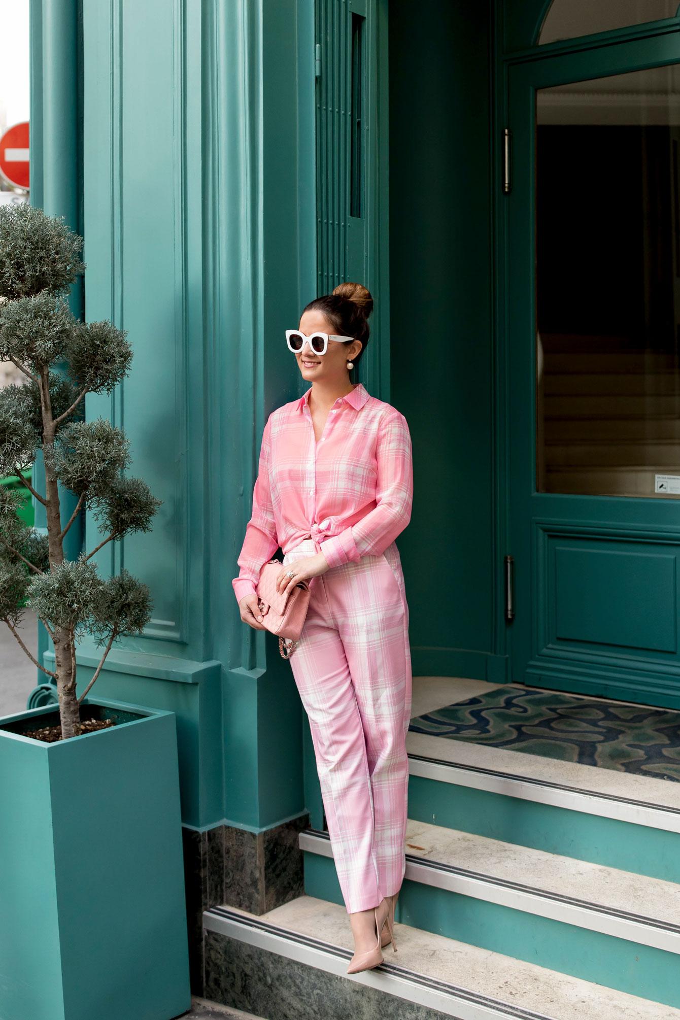 Jennifer Lake Pink Plaid Paris