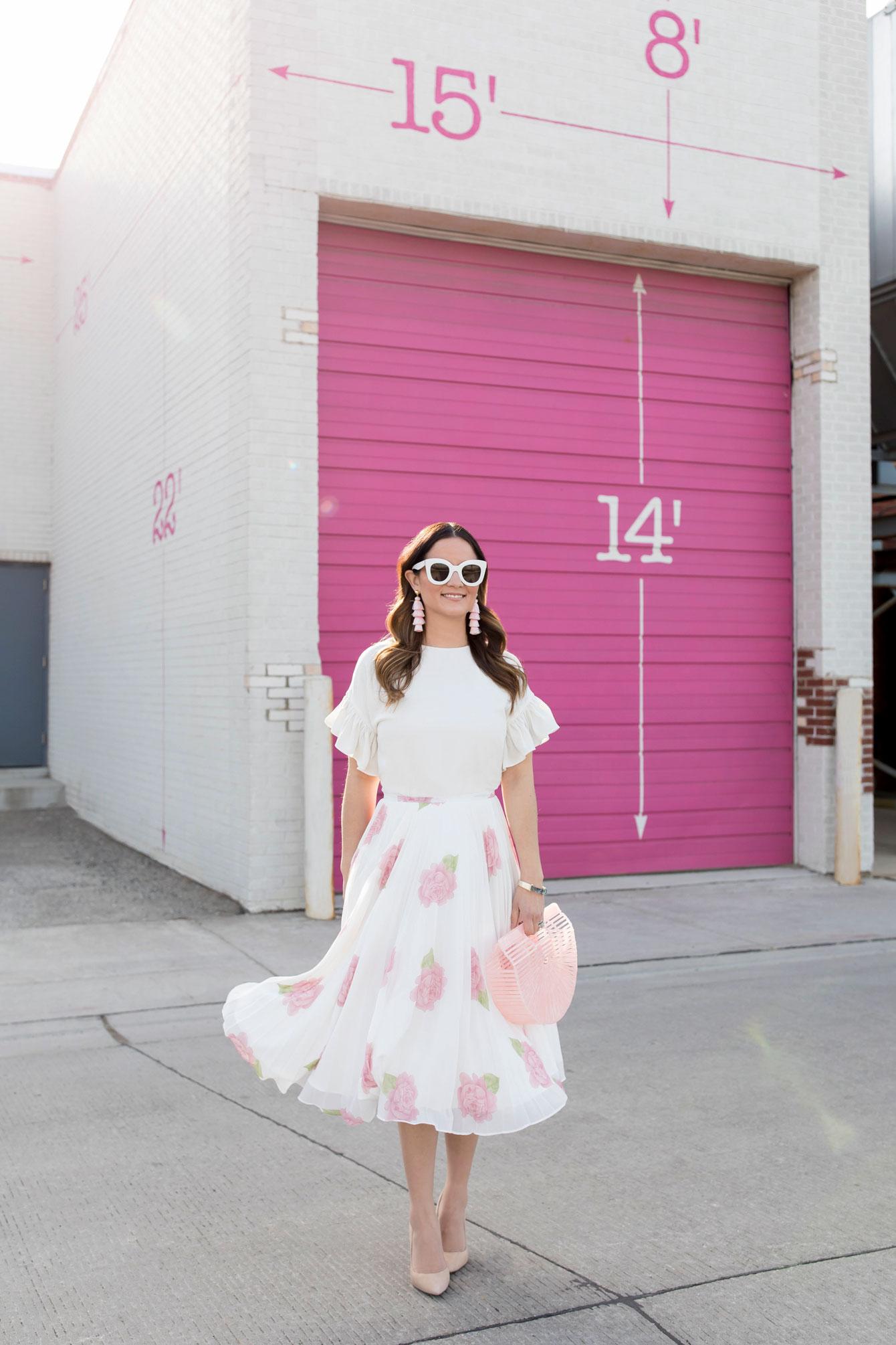 Jennifer Lake Rachel Parcell Floral Skirt