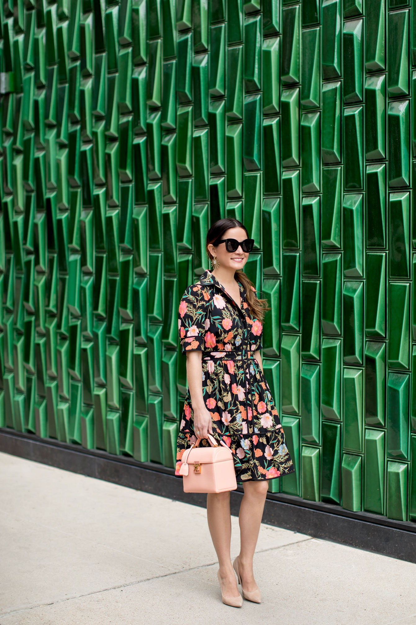 Kate Spade Floral Print Shirtdress