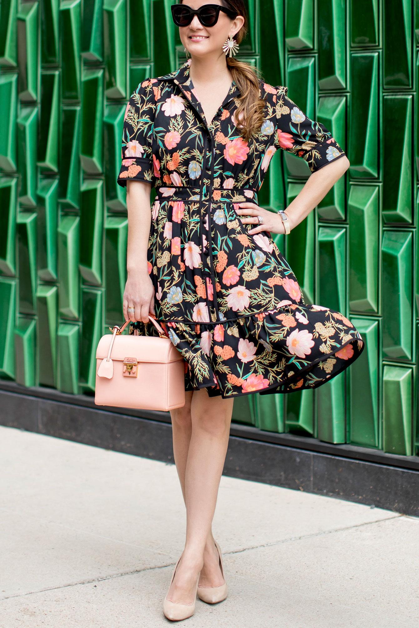 Kate Spade Floral Ruffle Shirtdress