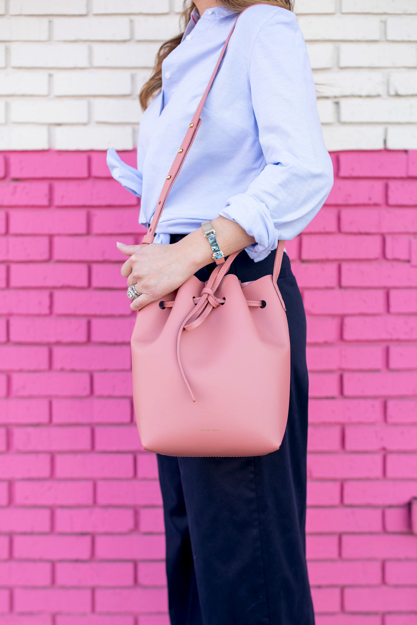 Mansur Gavriel Blush Mini Bucket Bag