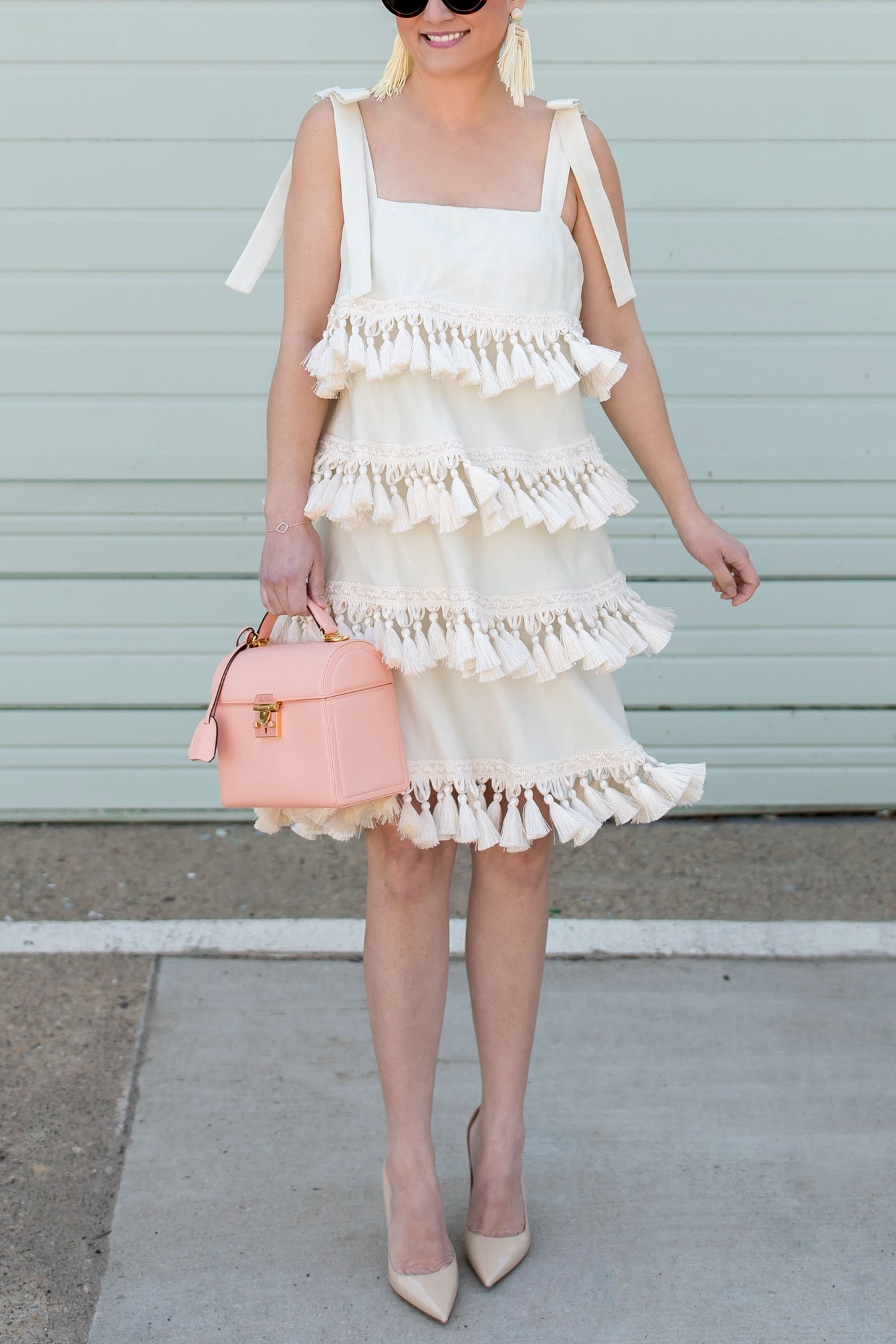Mestiza Ivory Tassel Dress