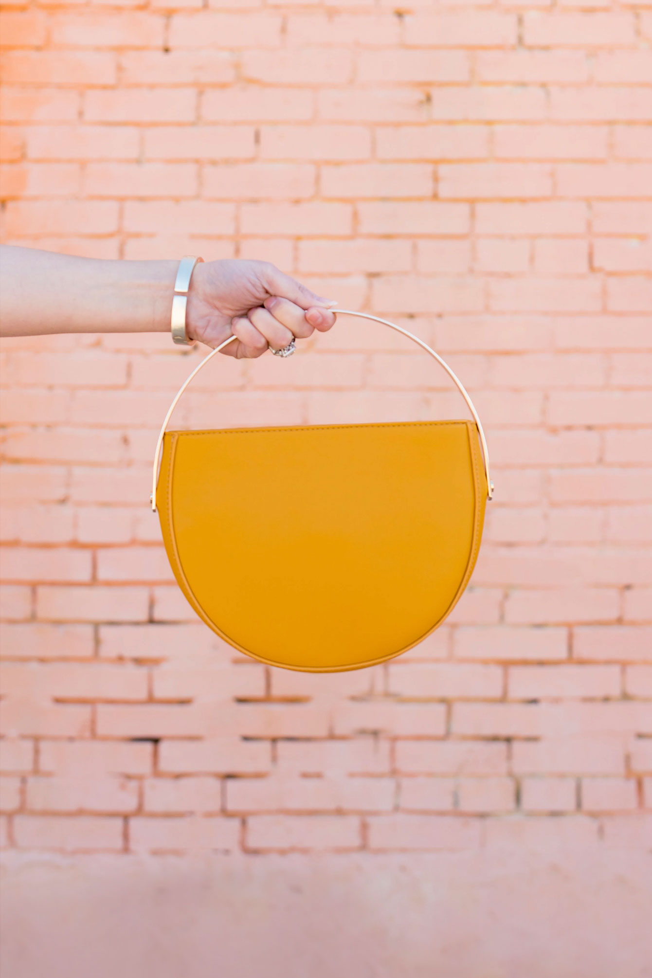 ModCloth Yellow Circle Bag