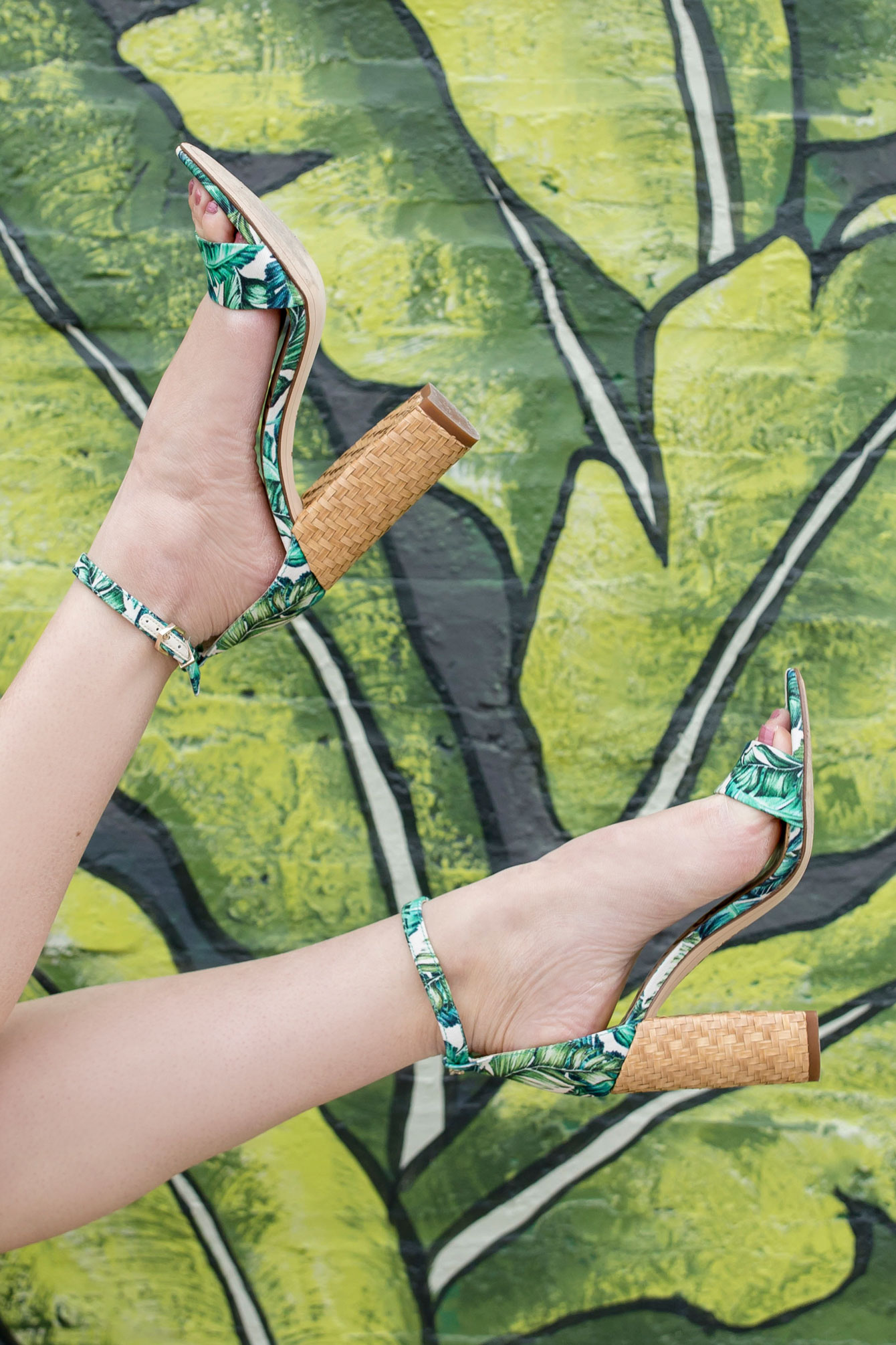 Sam Edelman Leaf Print Sandals