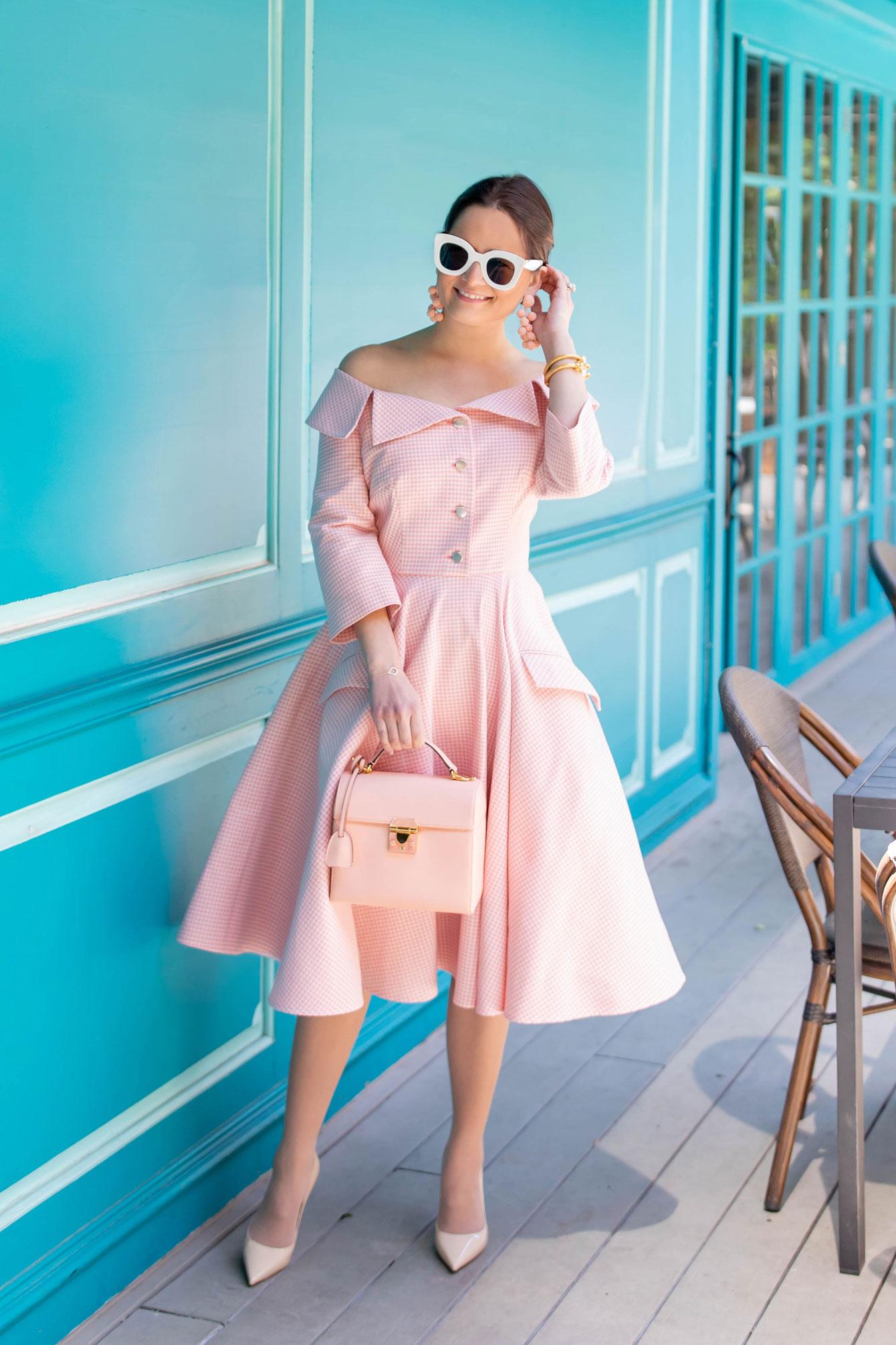 Sara Battaglia Pink Dress