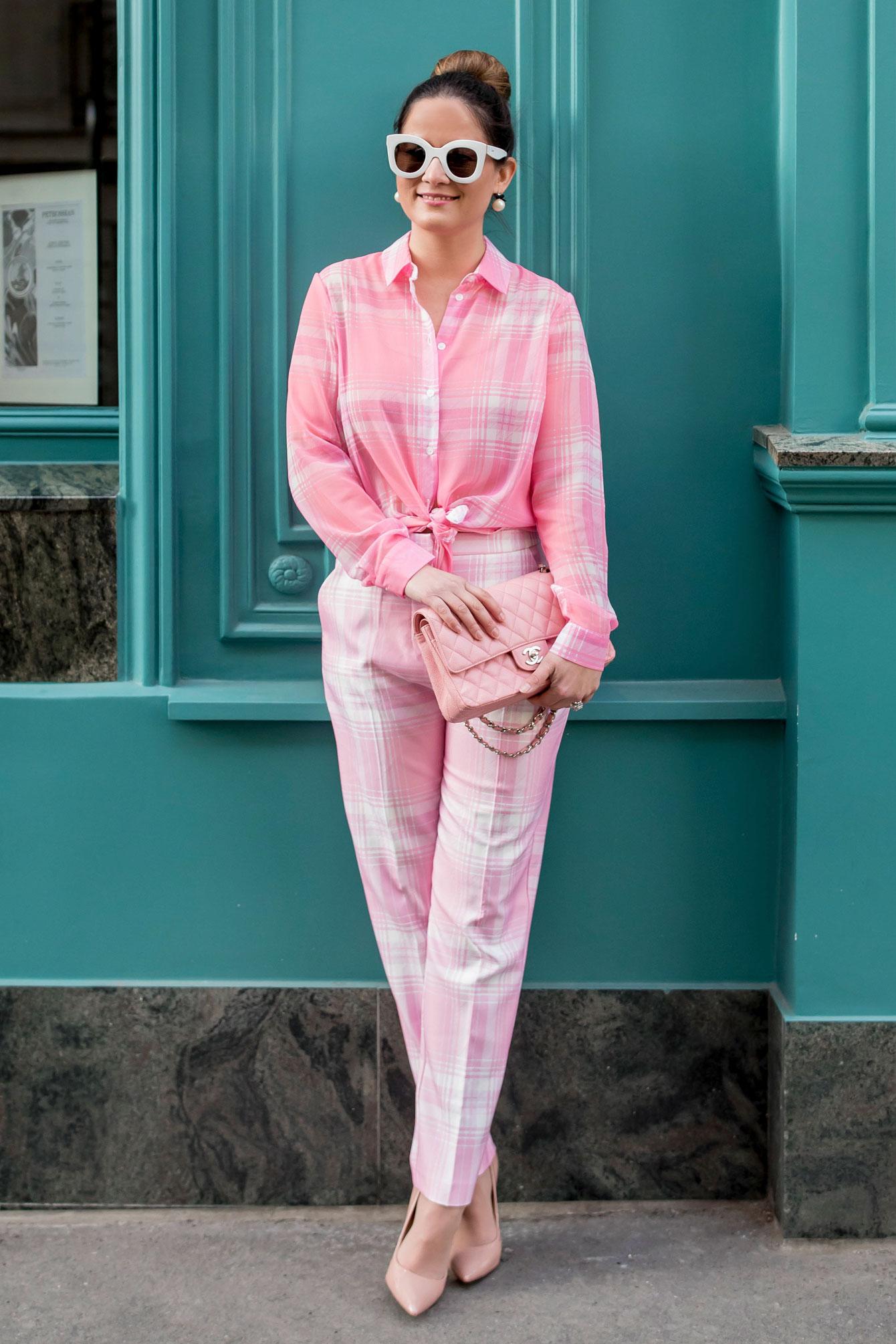 Style Charade Paris Pink Plaid
