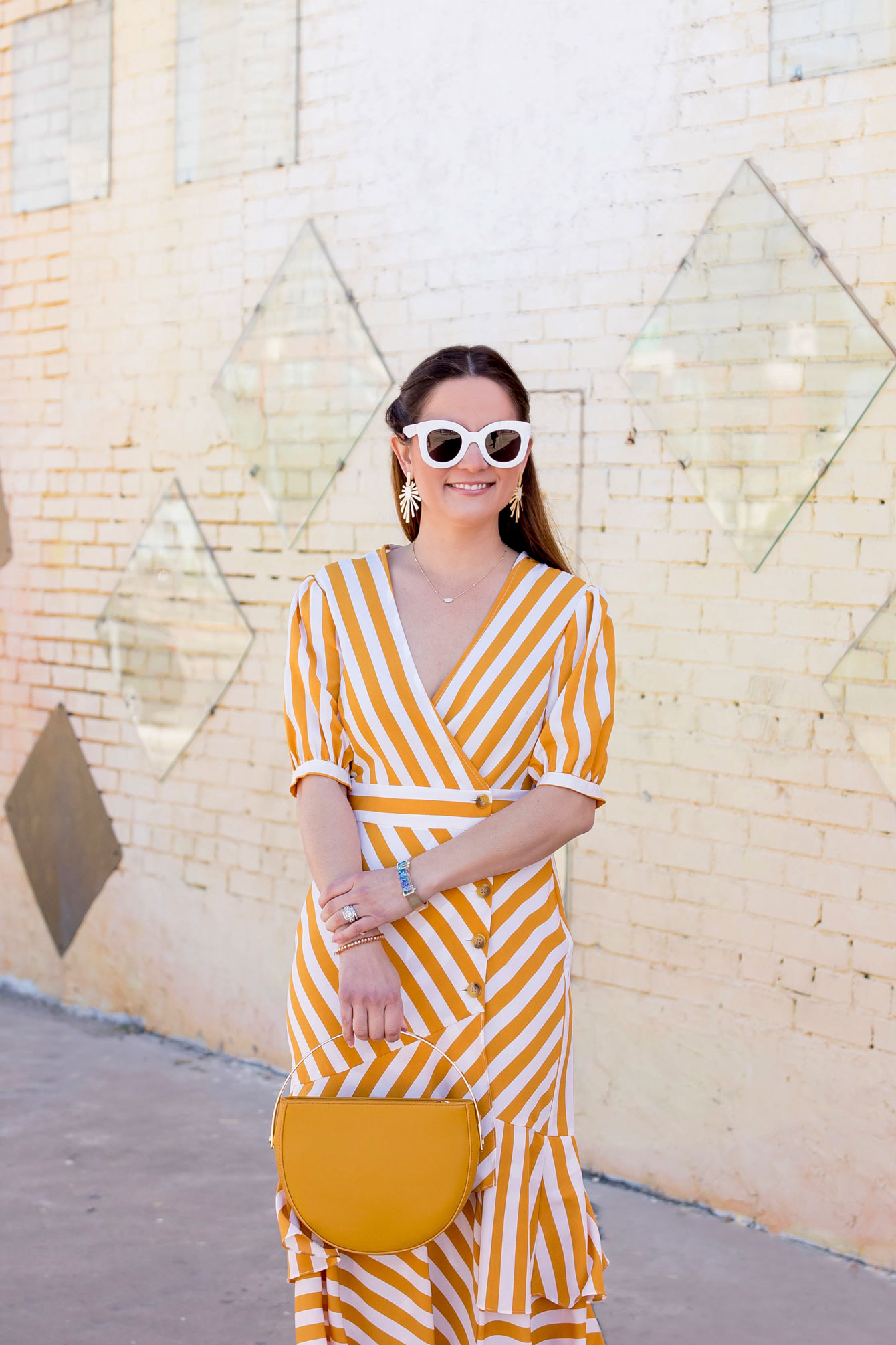 Topshop Yellow Stripe Dress