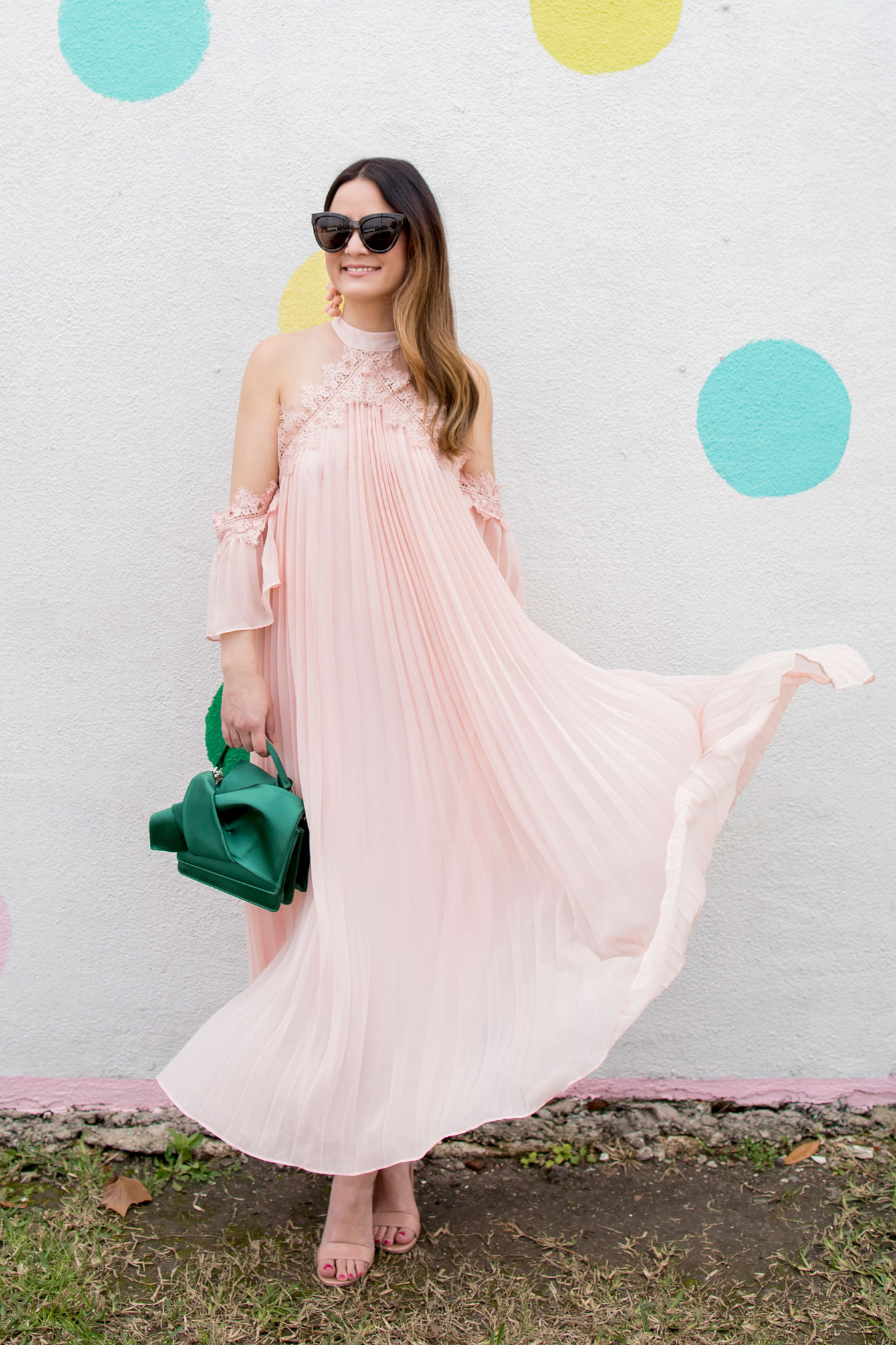 True Decadence Cold Shoulder Maxi Dress