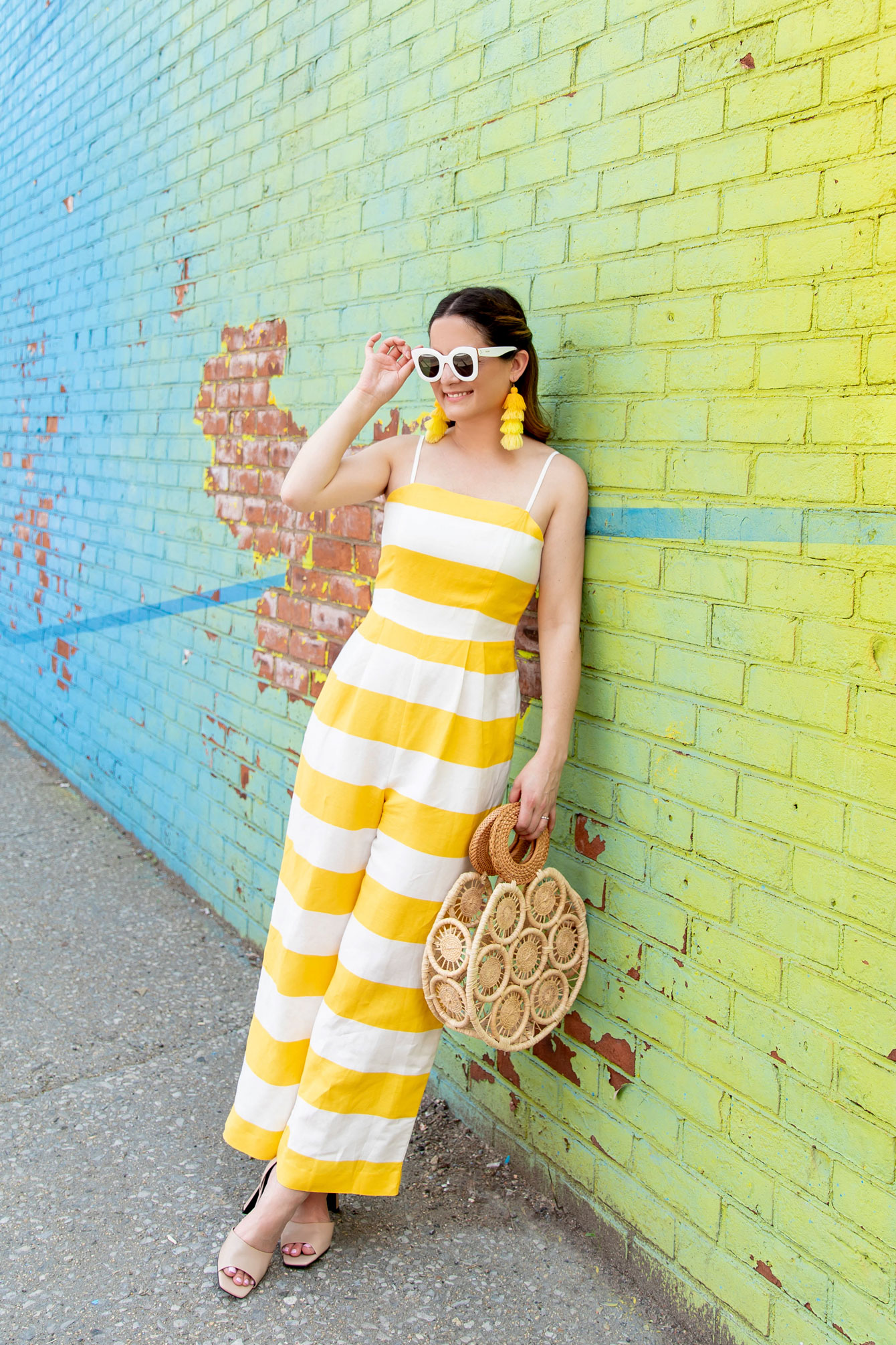 CeCe Yellow Stripe Jumpsuit