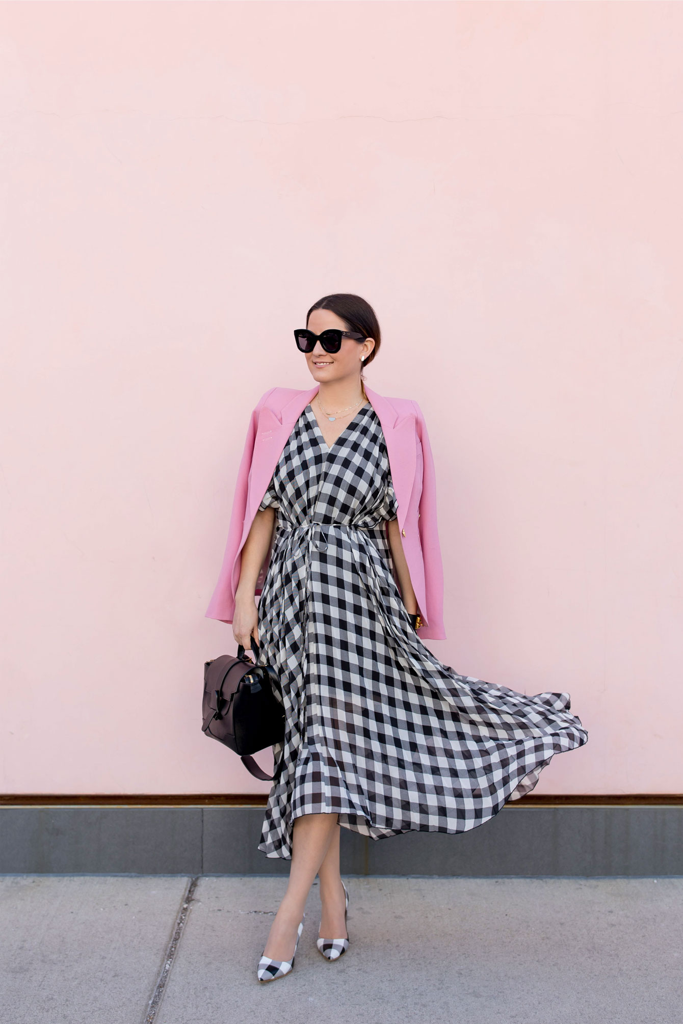 Delfi Collective Dress Becca Gingham Midi