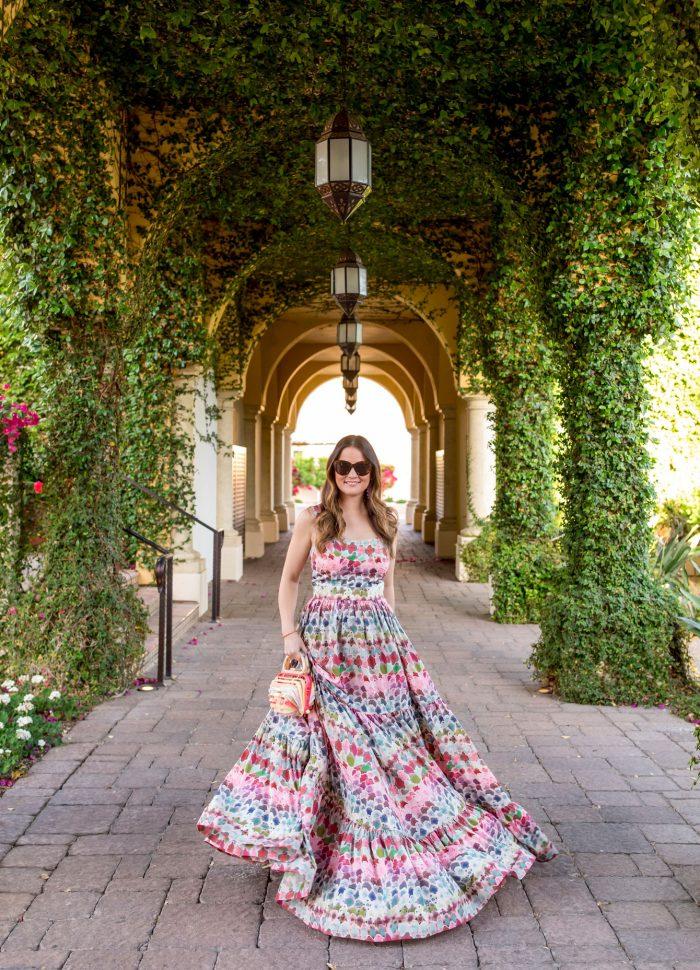 Watercolor Print Alexis Galia Dress in Scottsdale