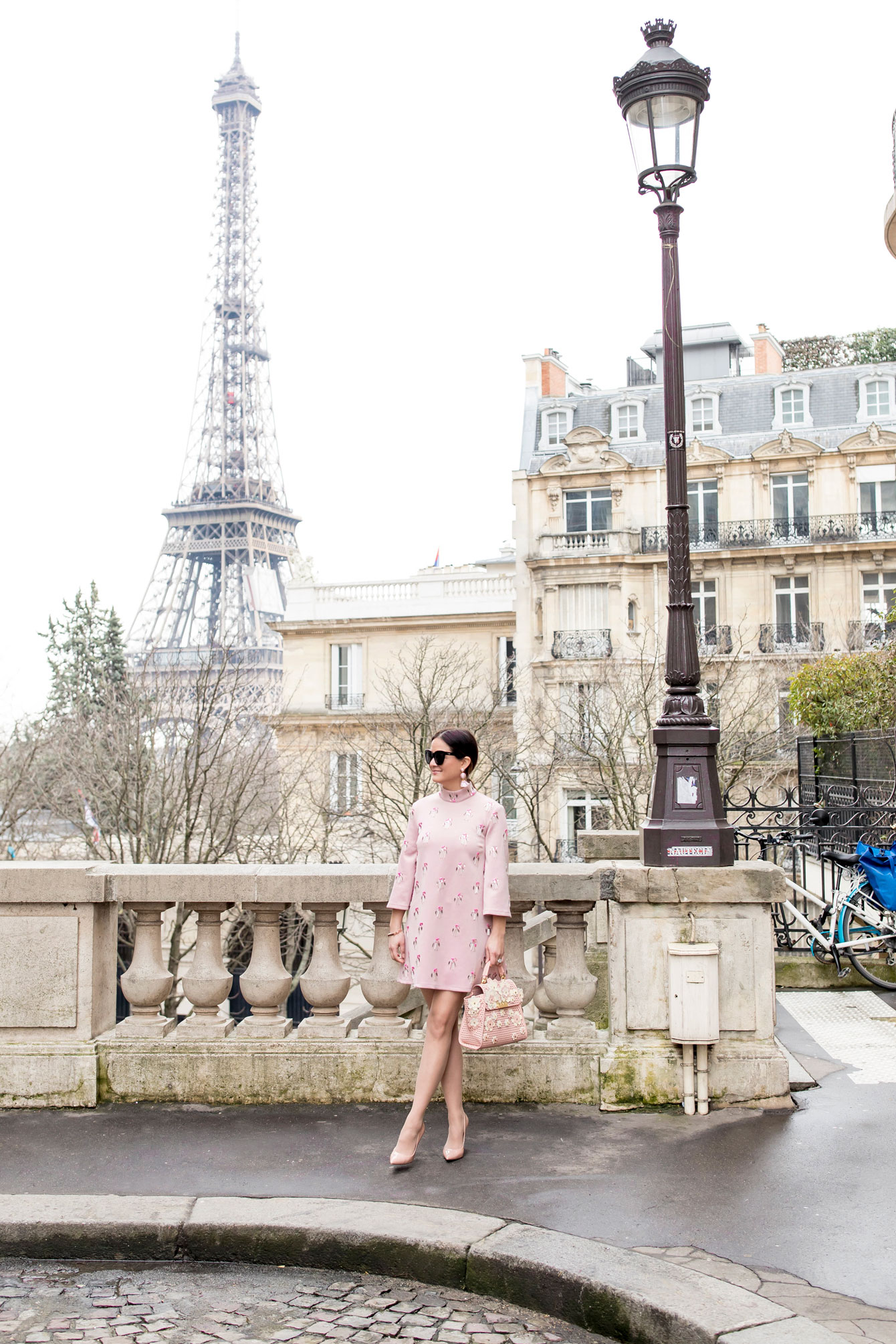 Jennifer Lake Pink Dress Eiffel Tower