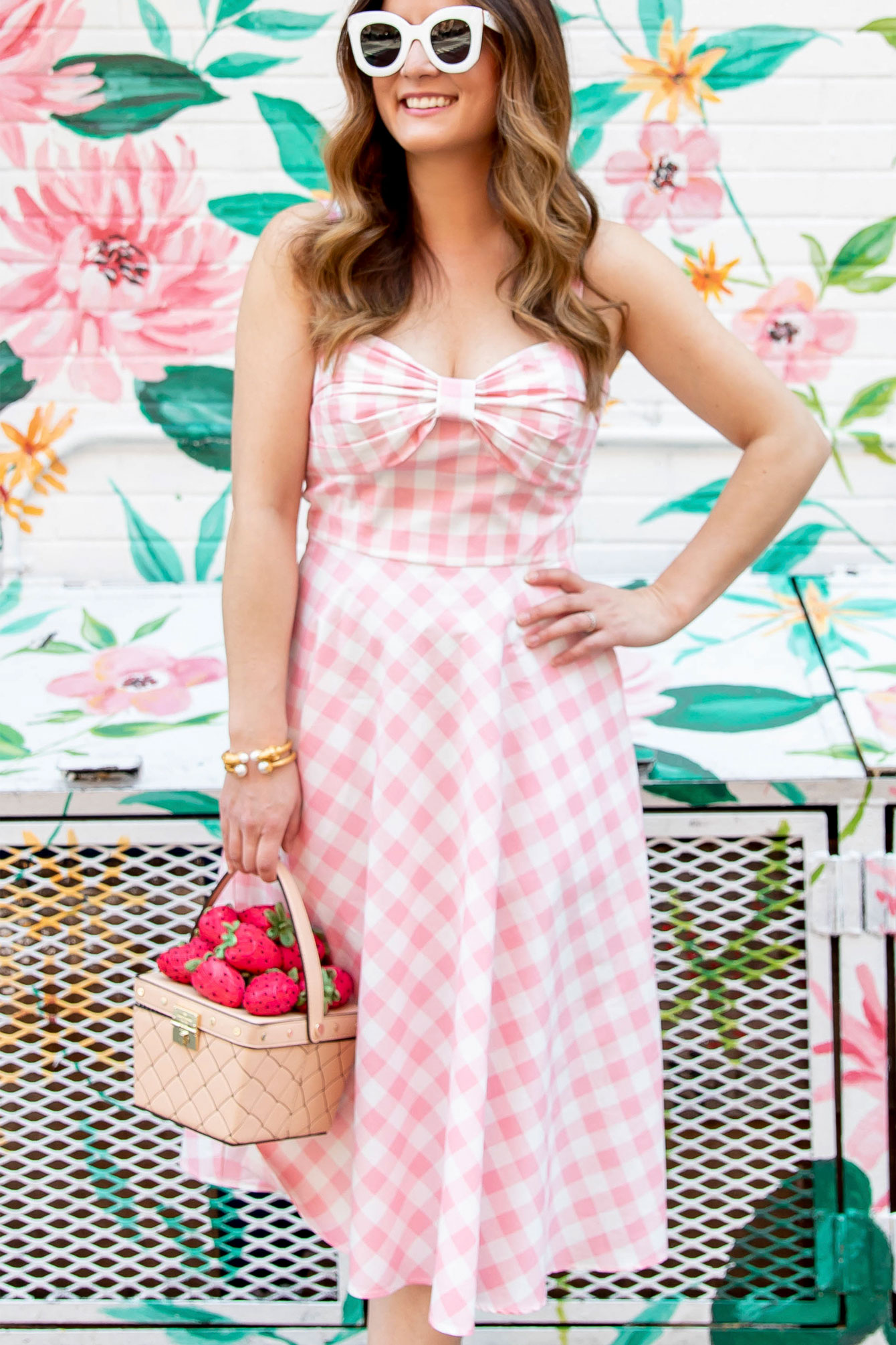 Jennifer Lake Pink Gingham Dress