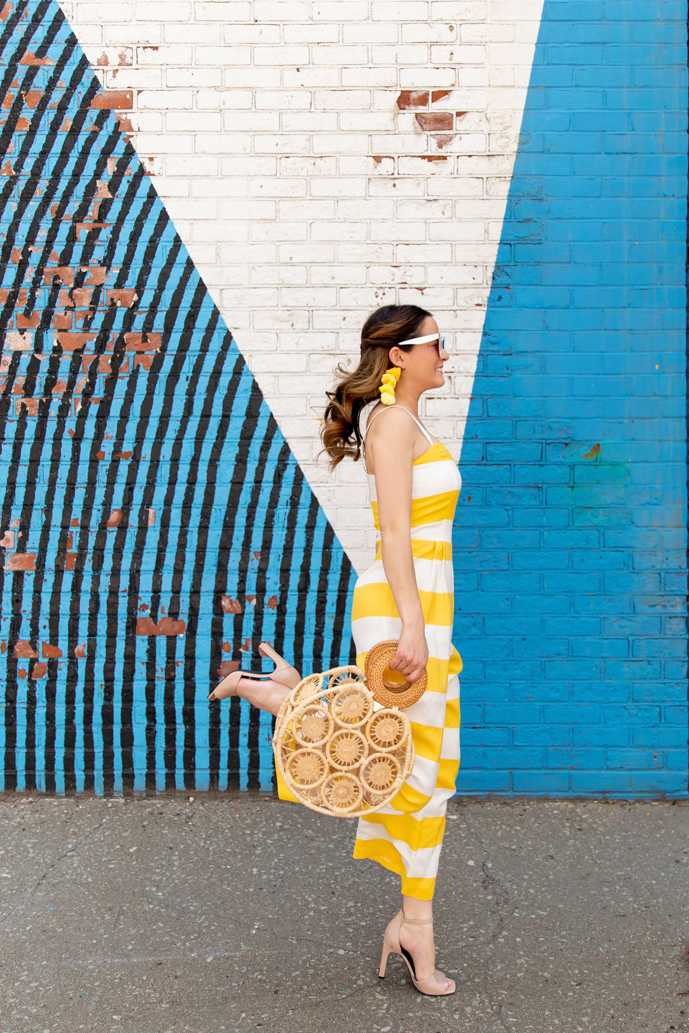 Jennifer Lake Yellow Stripe Jumpsuit