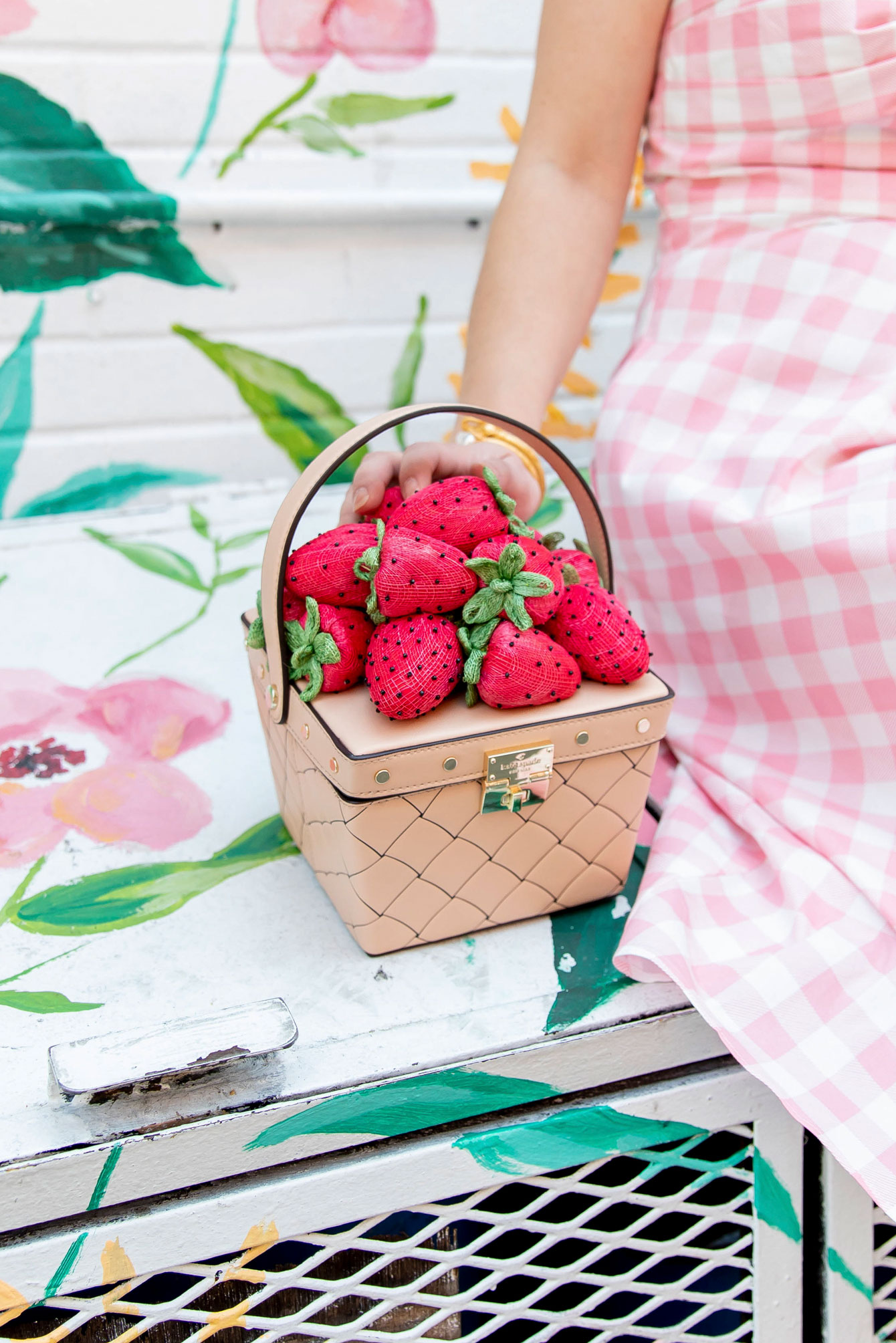 Kate Spade Strawberry Basket Novelty Bag