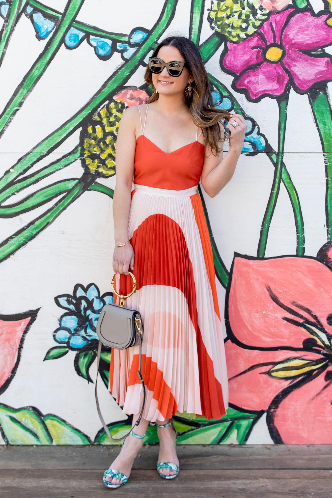 Mango Pleated Bicolor Dress At A Bishop Arts District