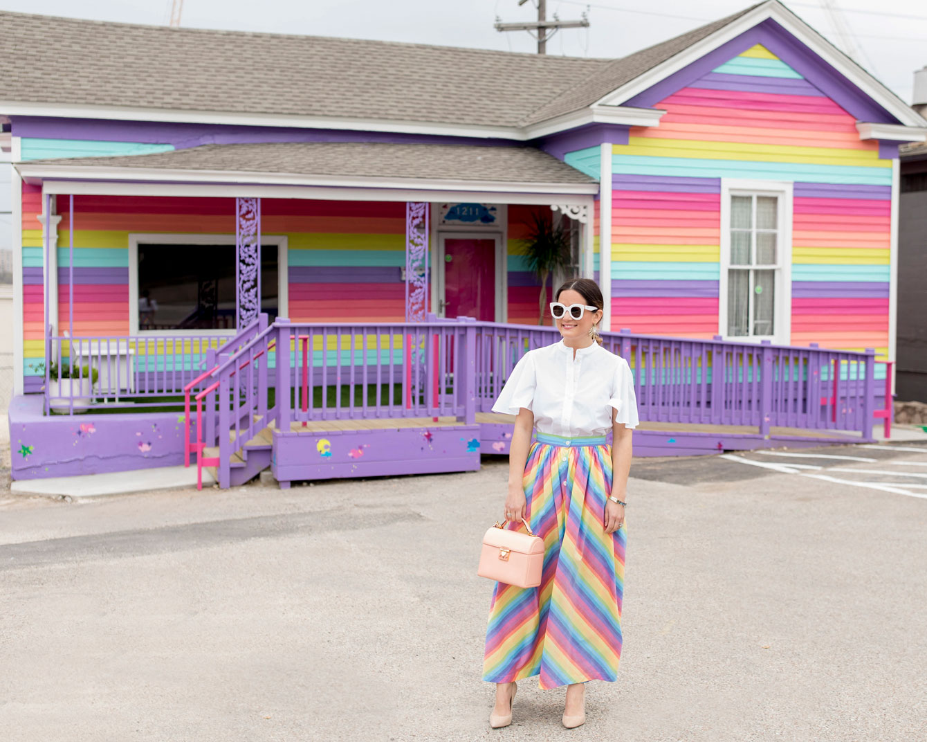 Austin Rainbow Stripe House