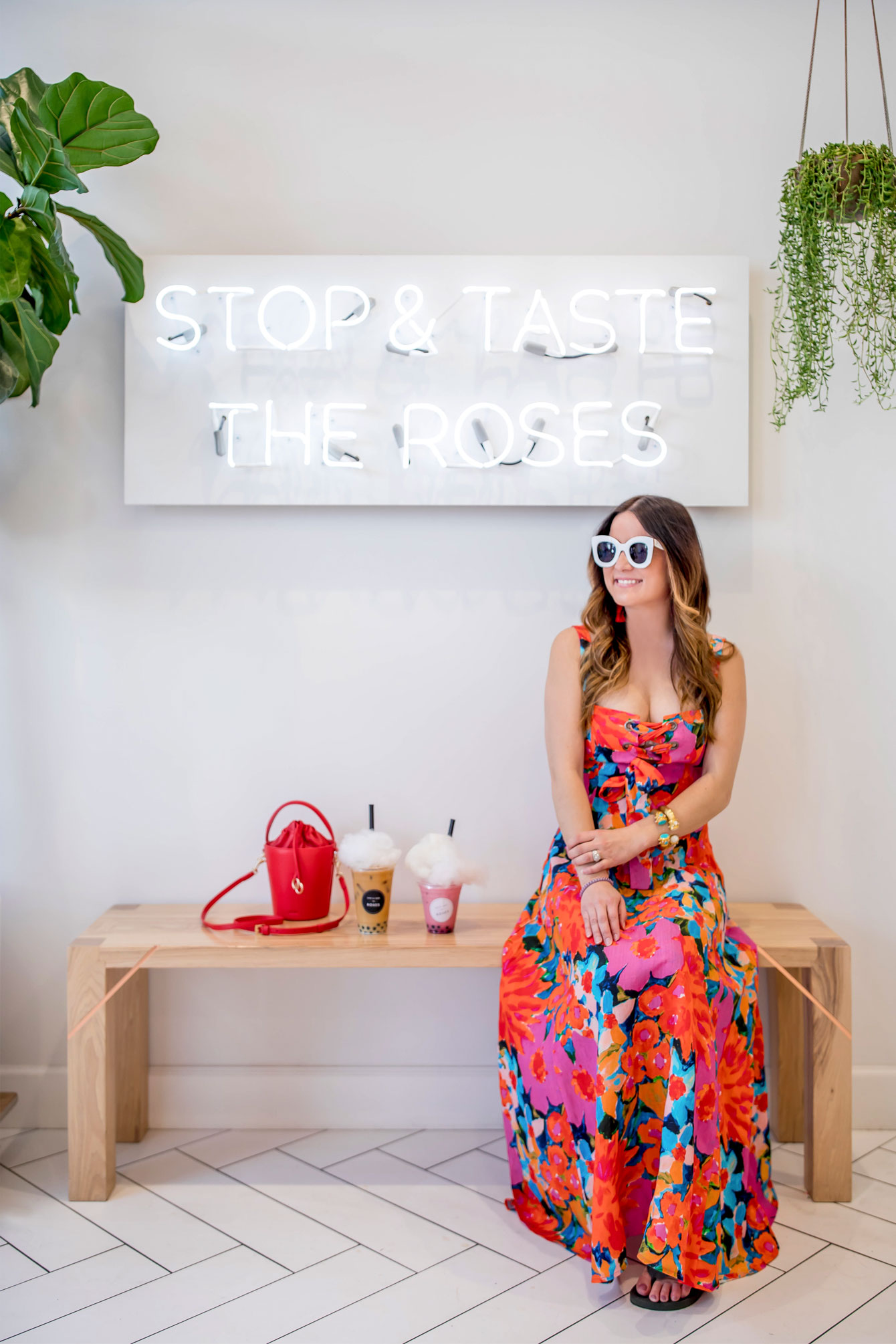 Stop and Taste the Roses Neon Sign Scottsdale