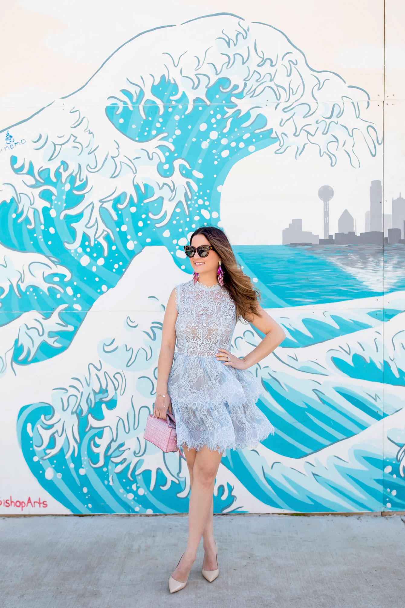 Wave Mural Dallas Bishop Arts District