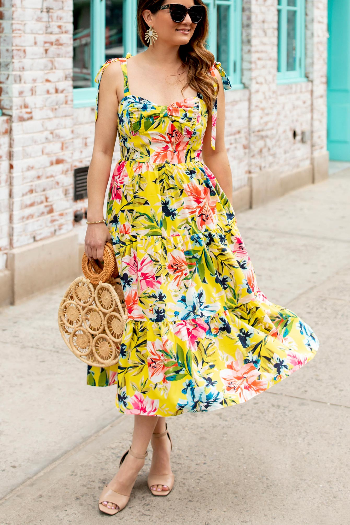 Affordable Yellow Floral Dress