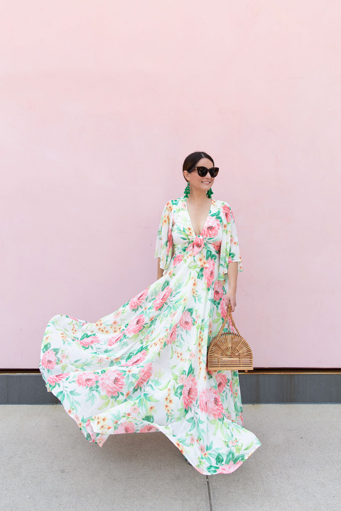 Jennifer Lake Floral Maxi Dress