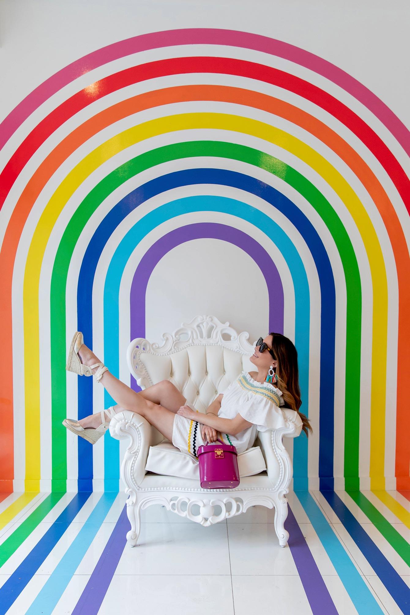 Jennifer Lake Rainbow Mural New York