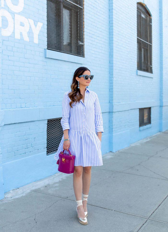 The Most Comfy Tuckernuck Stripe Drop Waist Shirt Dress