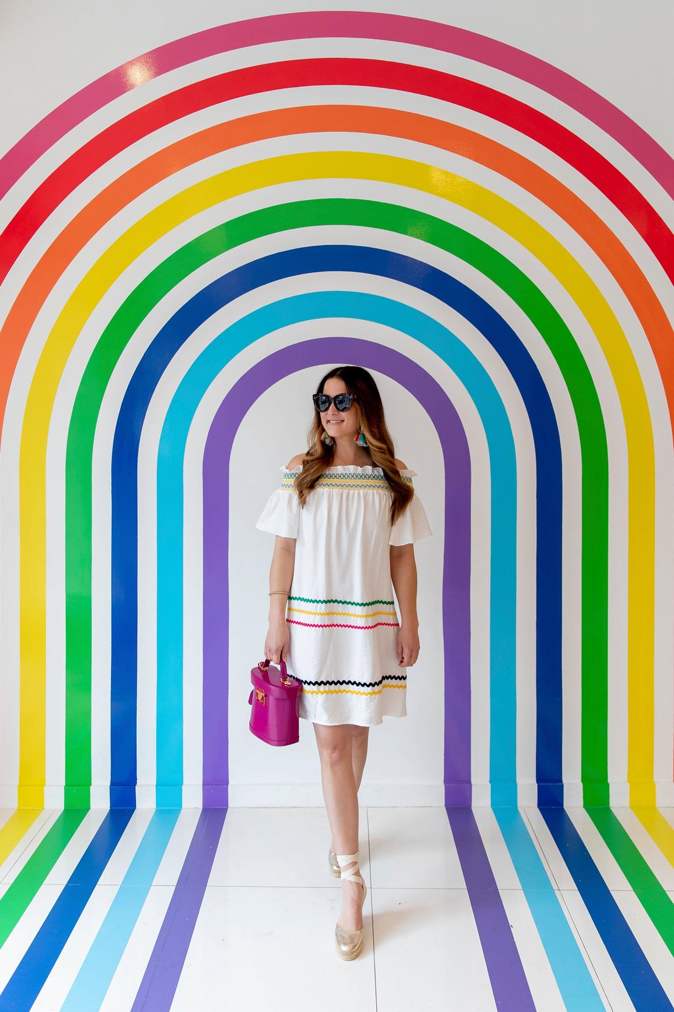 Rainbow Stripe Mural New York City