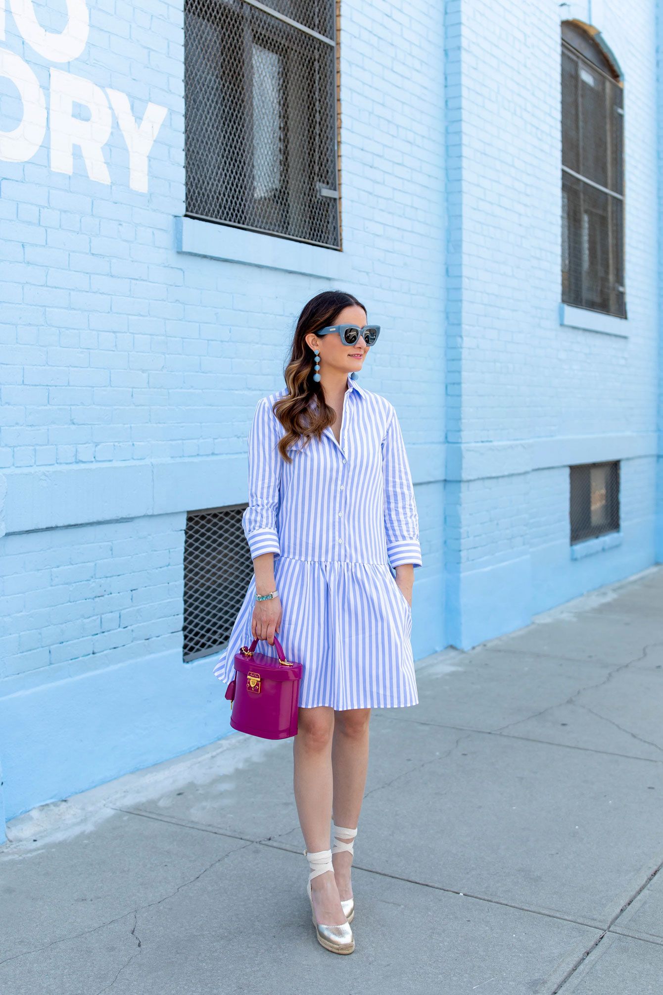 Tuckernuck Blur Stripe Shirt Dress
