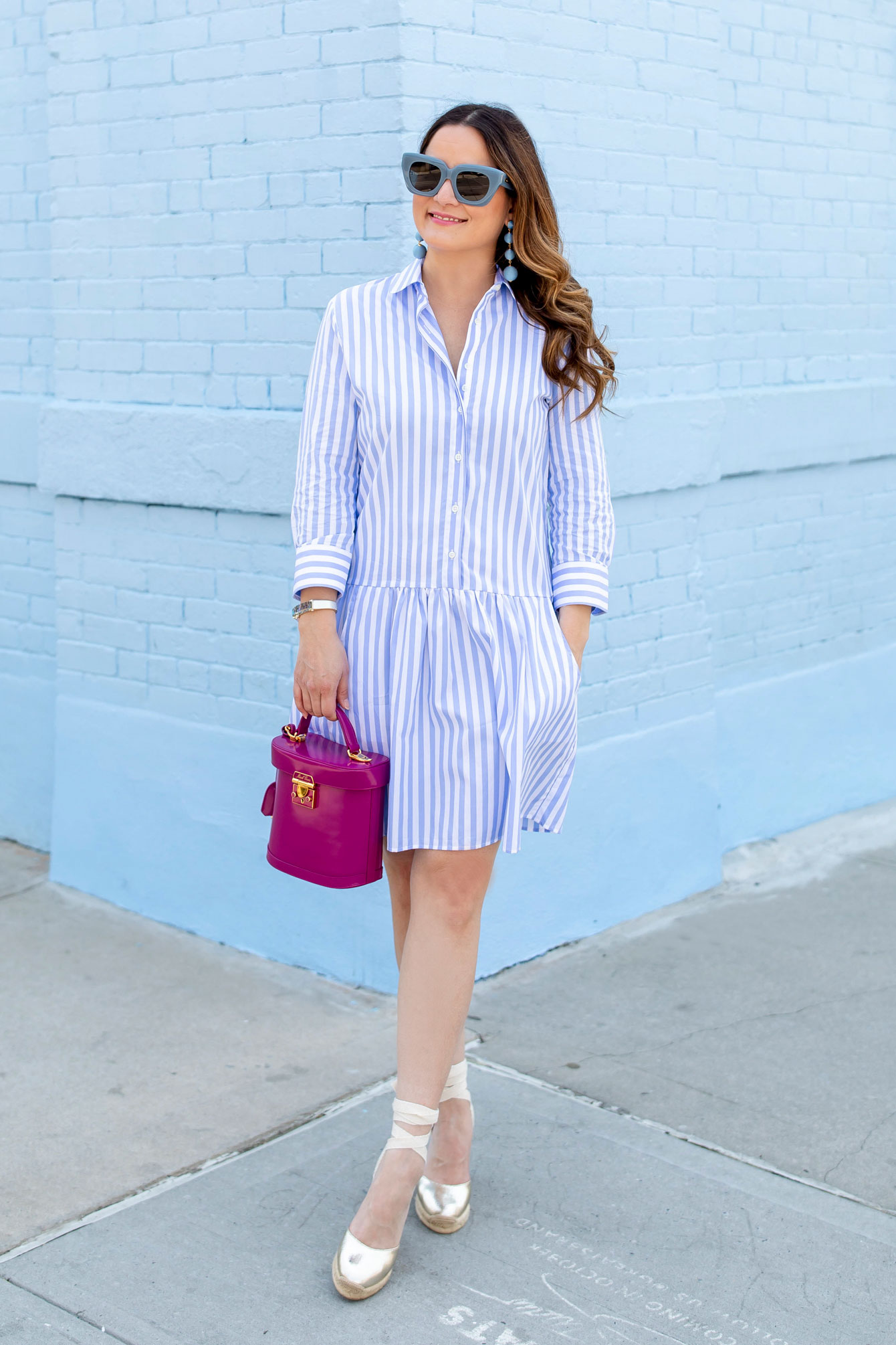 Tuckernuck Stripe Drop Waist Shirt Dress