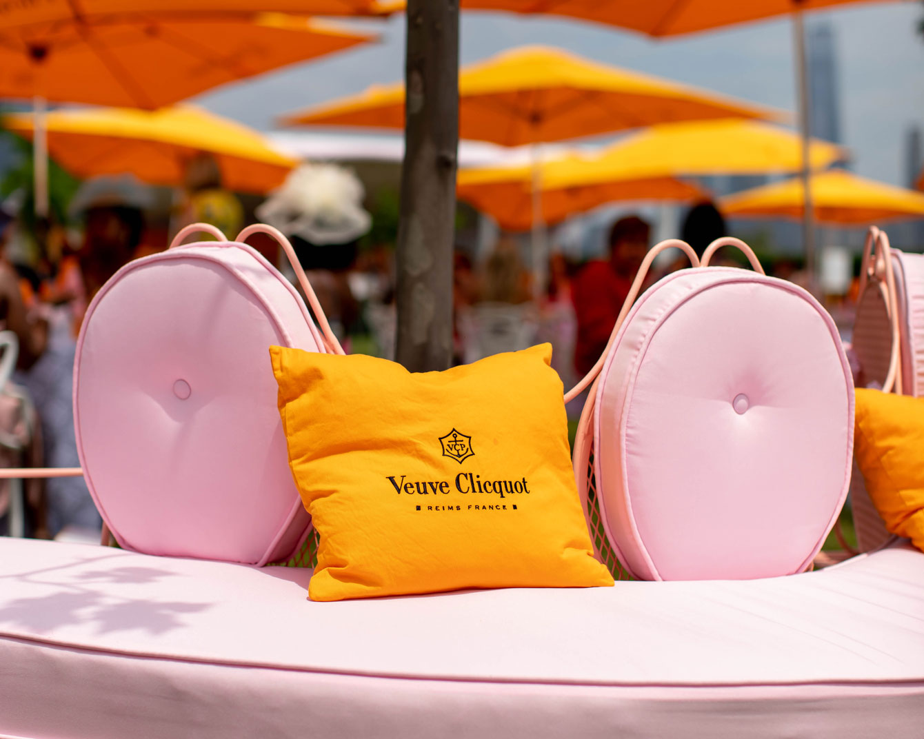 Veuve Clicquot Pillow