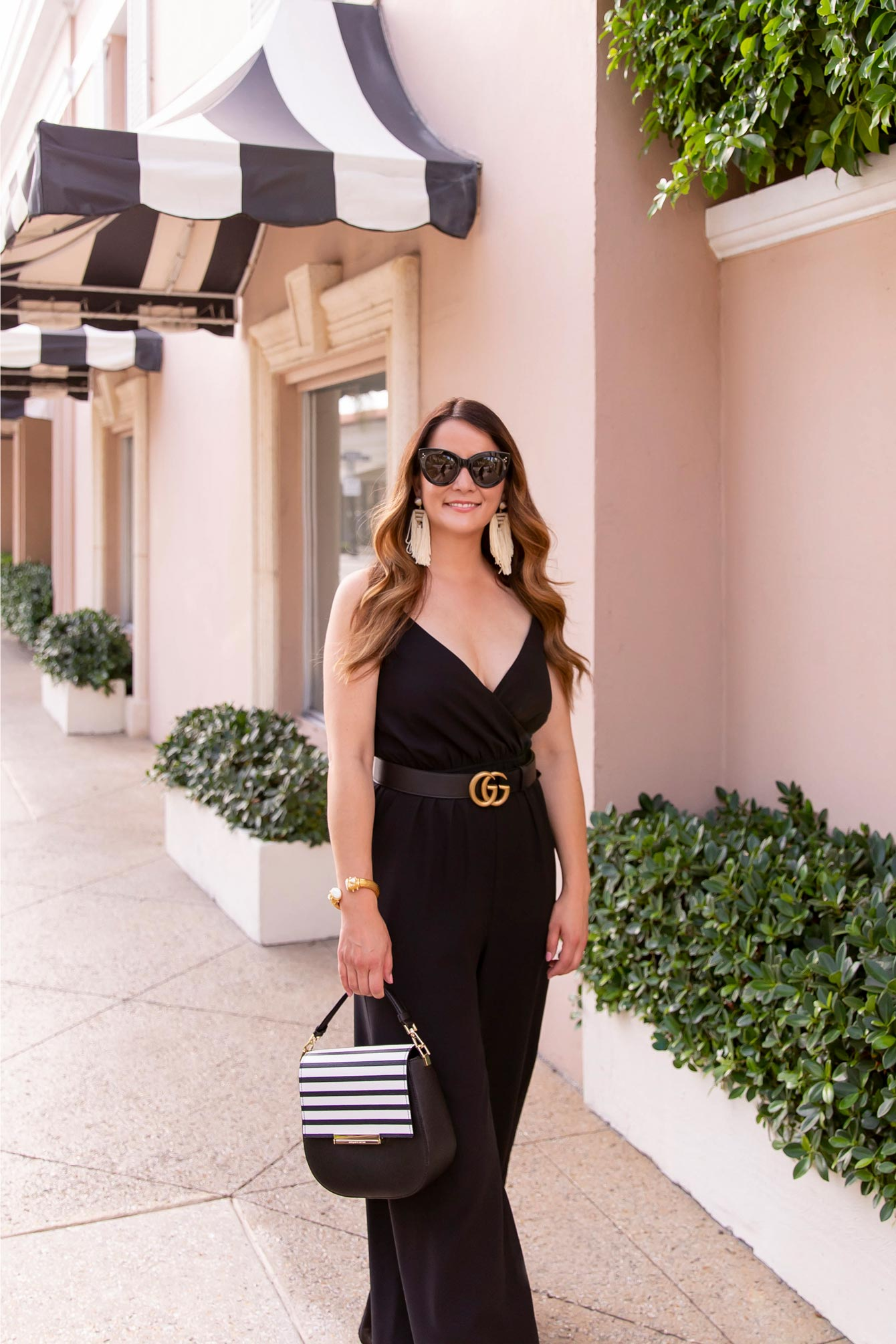 Black Faux Wrap Jumpsuit