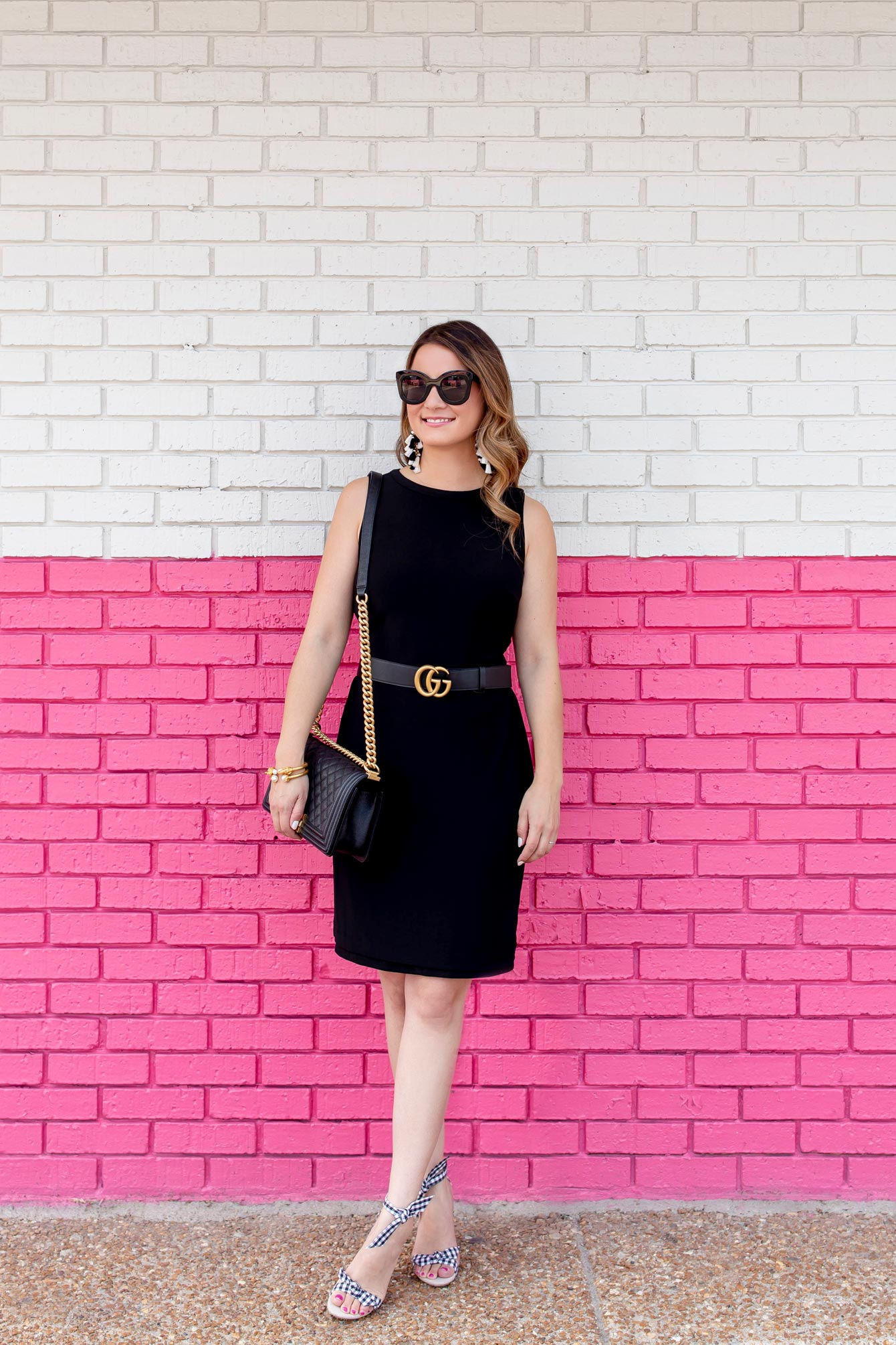 Black Sleeveless Reversible Shift Dress