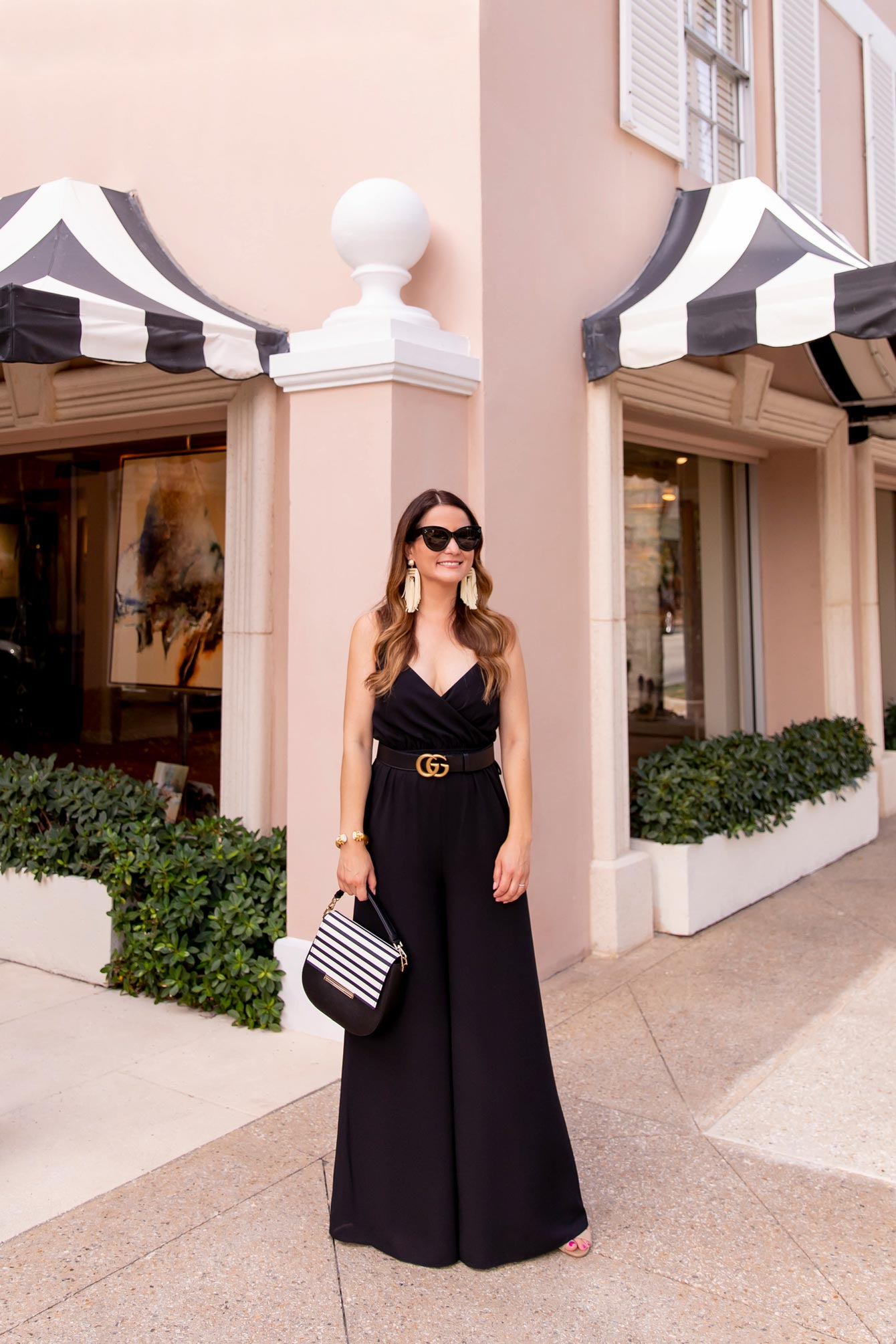 Black Wrap Wide Leg Jumpsuit