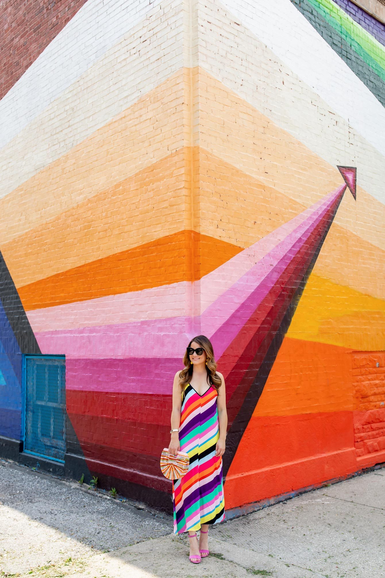 Chicago Rainbow Stripe Mural