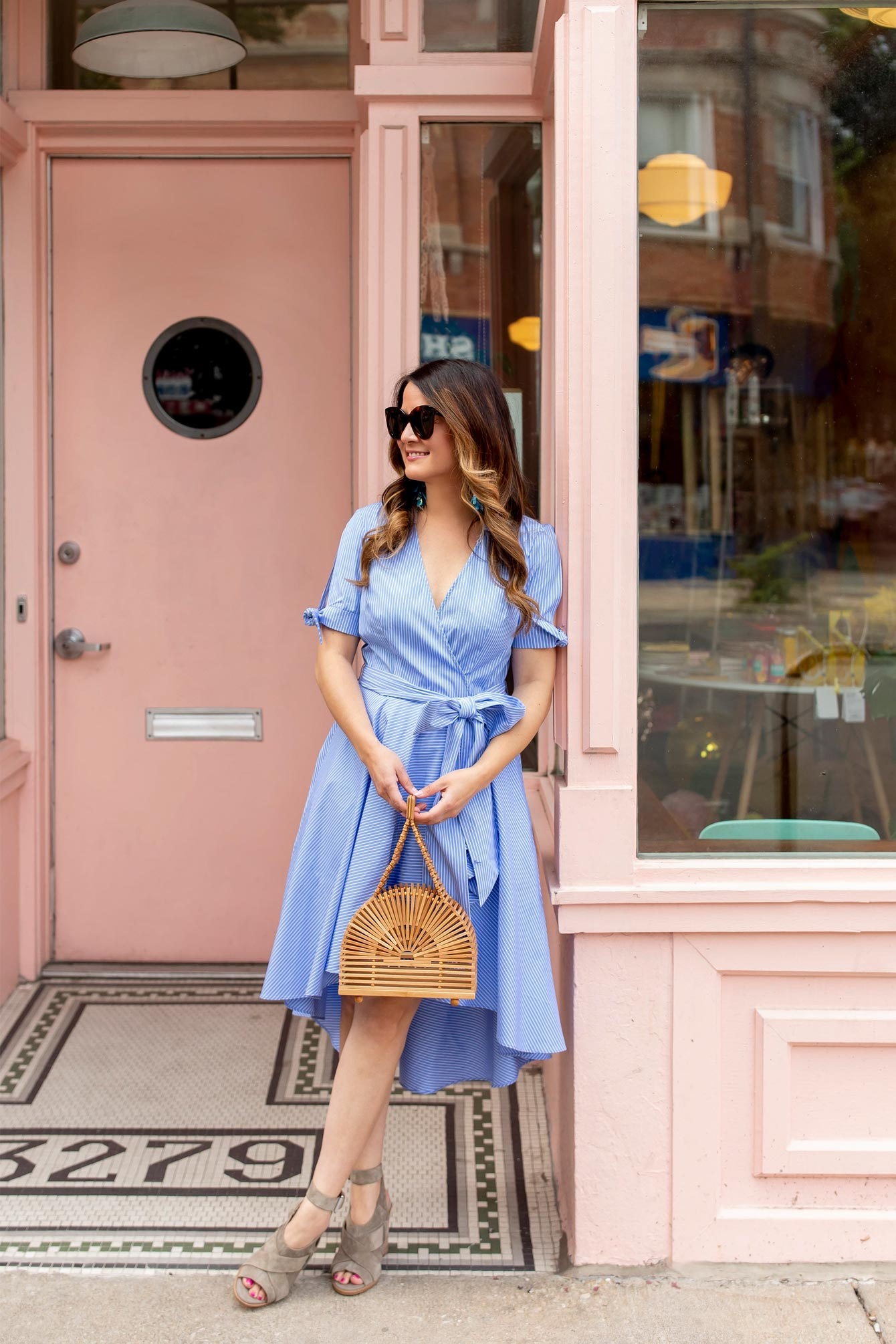 Eliza J Blue Wrap Dress
