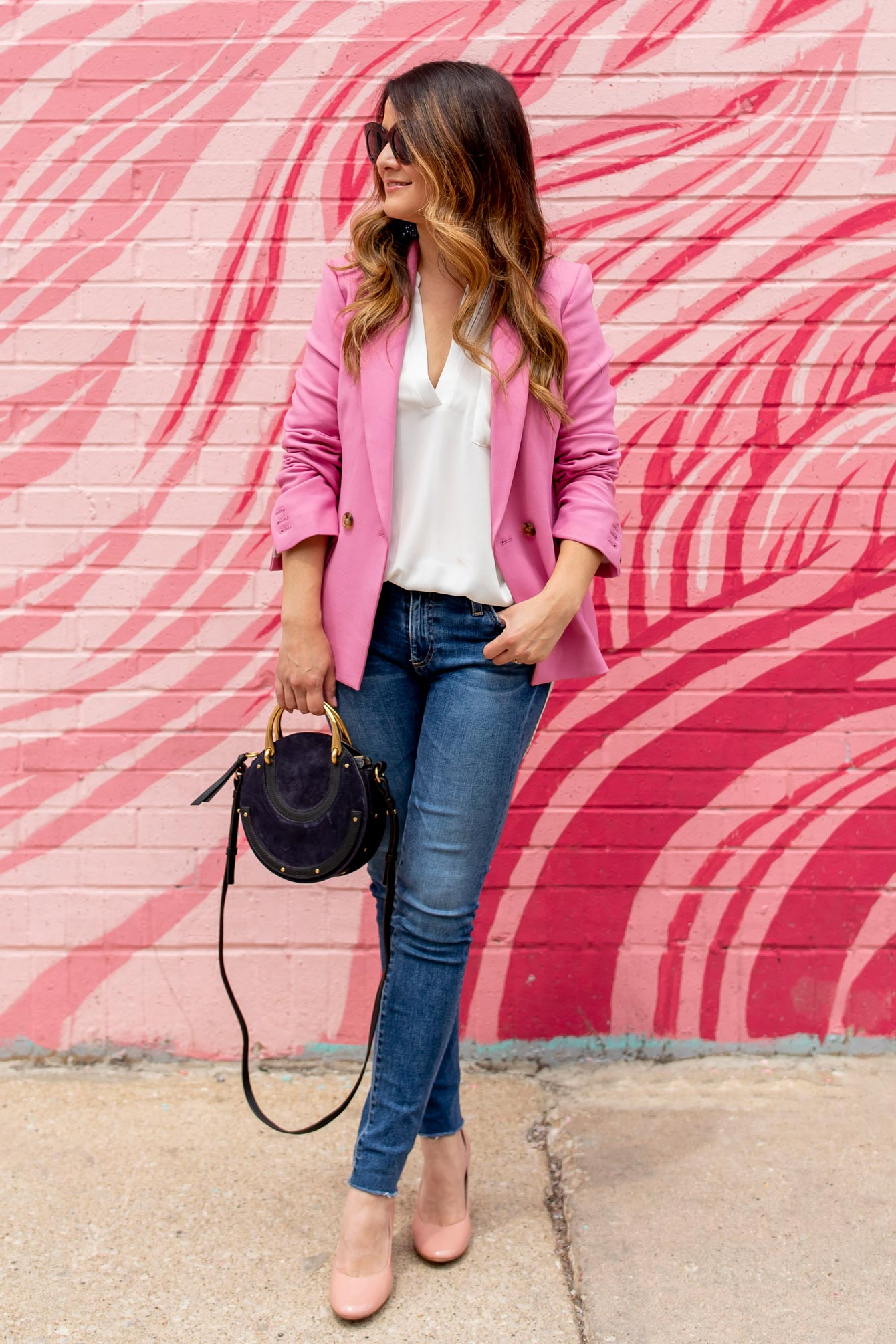Jennifer Lake Pink Blazer