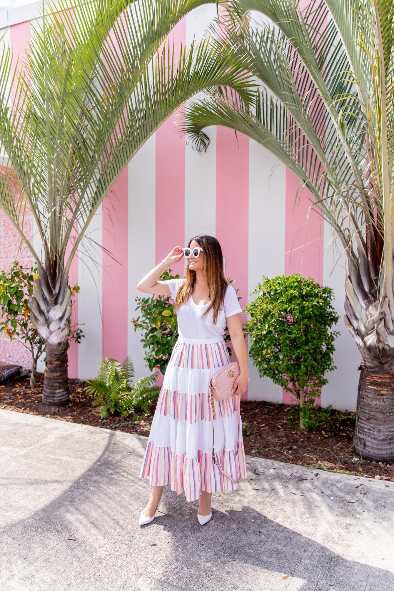 Jennifer Lake Pink Stripe Wall