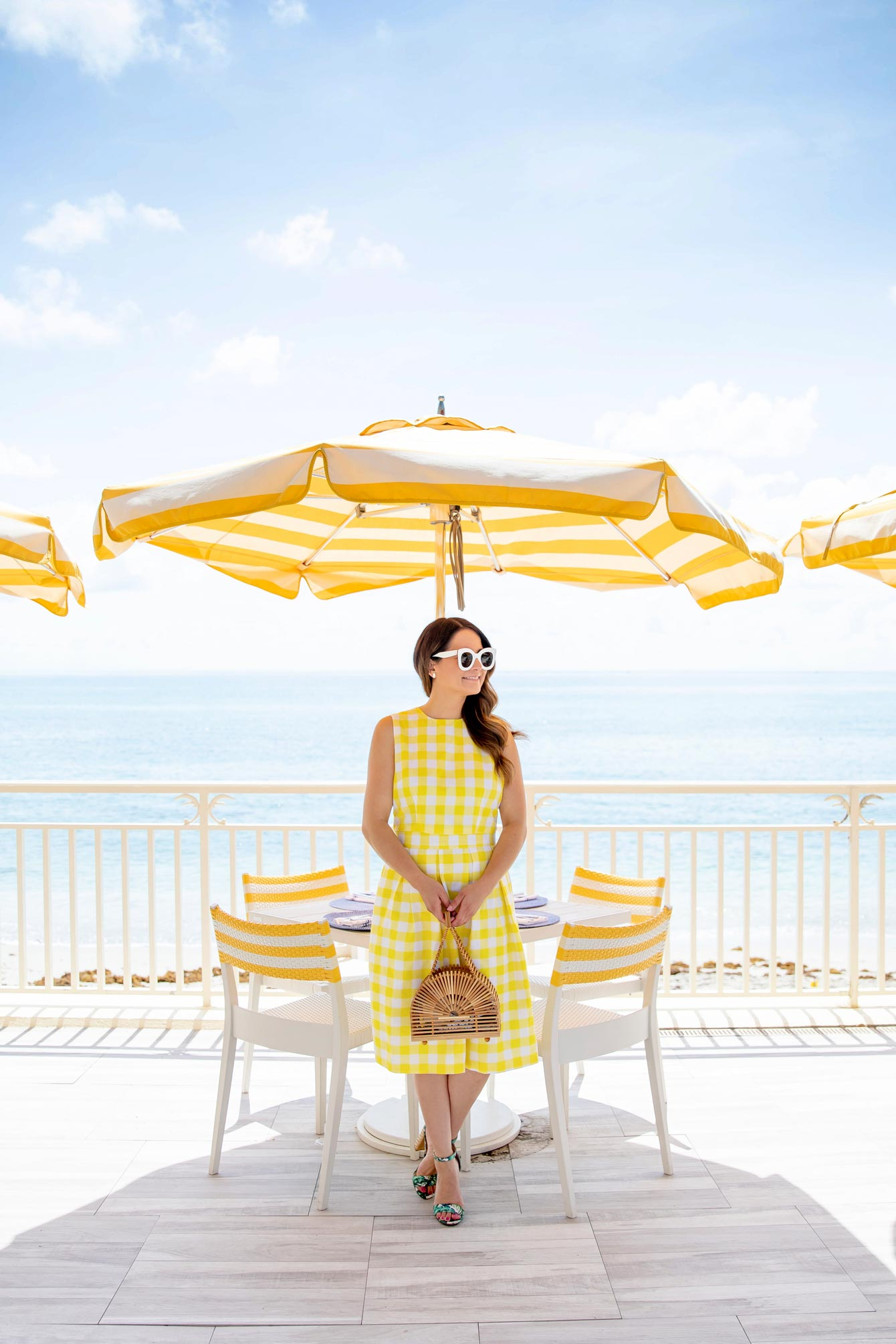 Jennifer Lake Yellow Gingham Skirt
