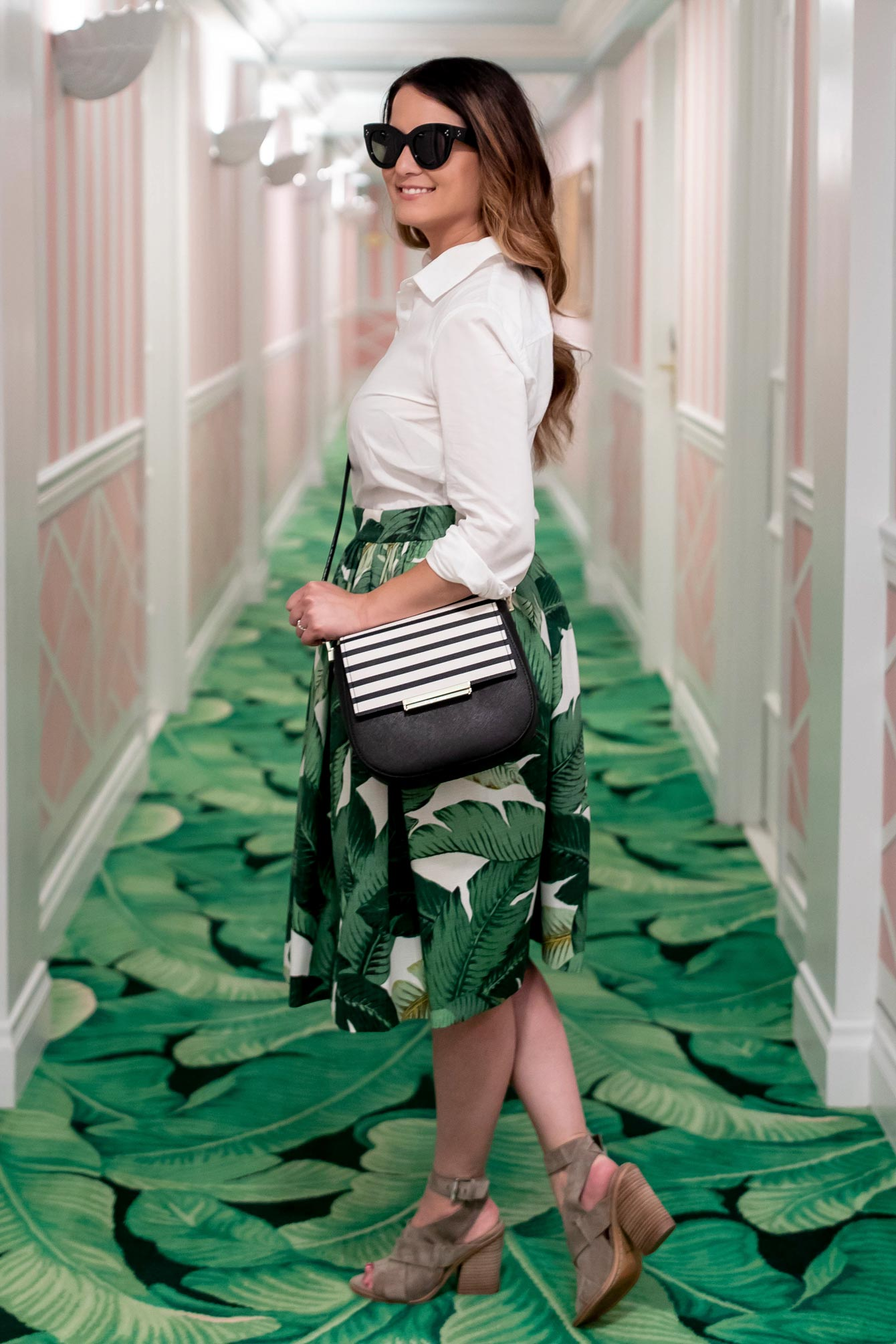 Kate Spade Stripe Crossbody Bag