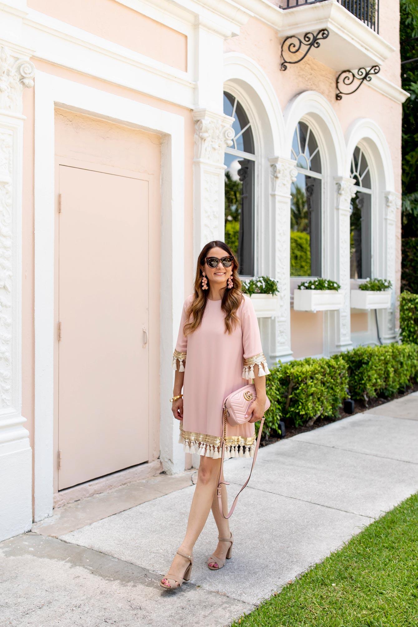 Mestiza Pink Tassel Dress