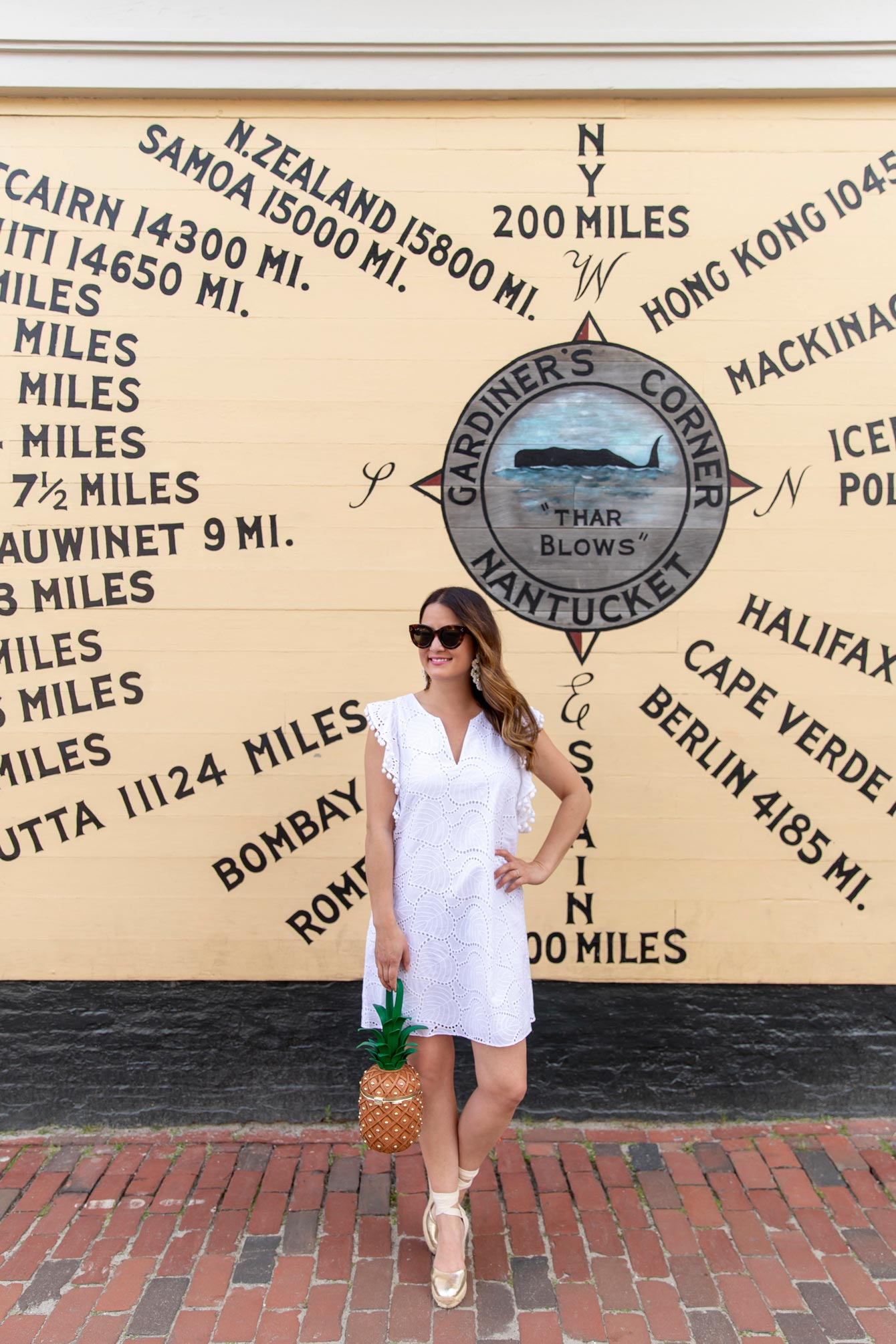 Nantucket Compass Mural