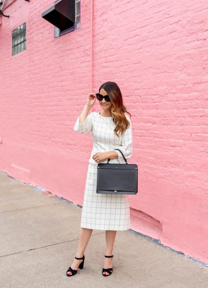 Tibi Windowpane Skirt and Top Styled Two Ways