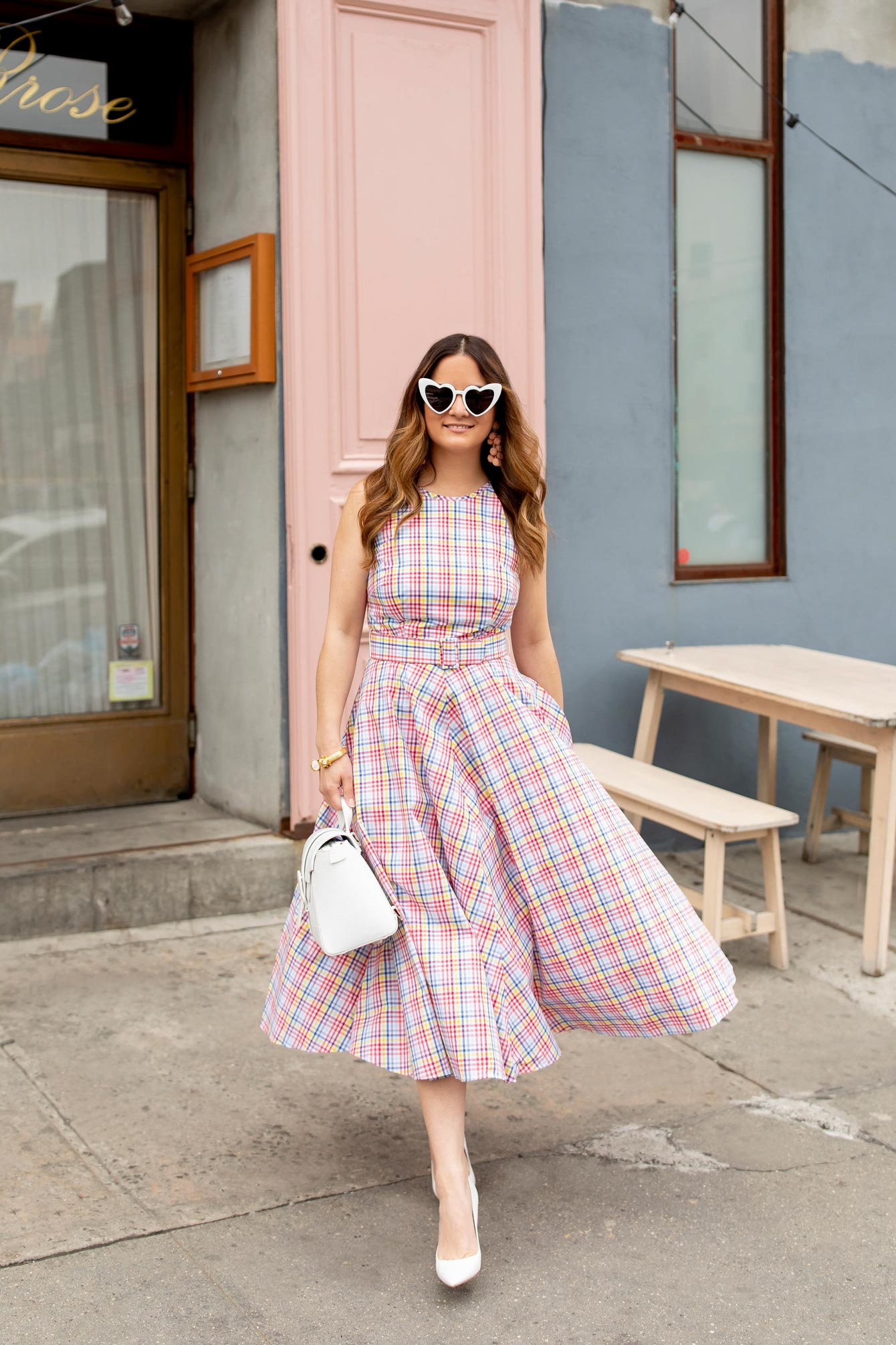Plaid Halter Neck Sundress