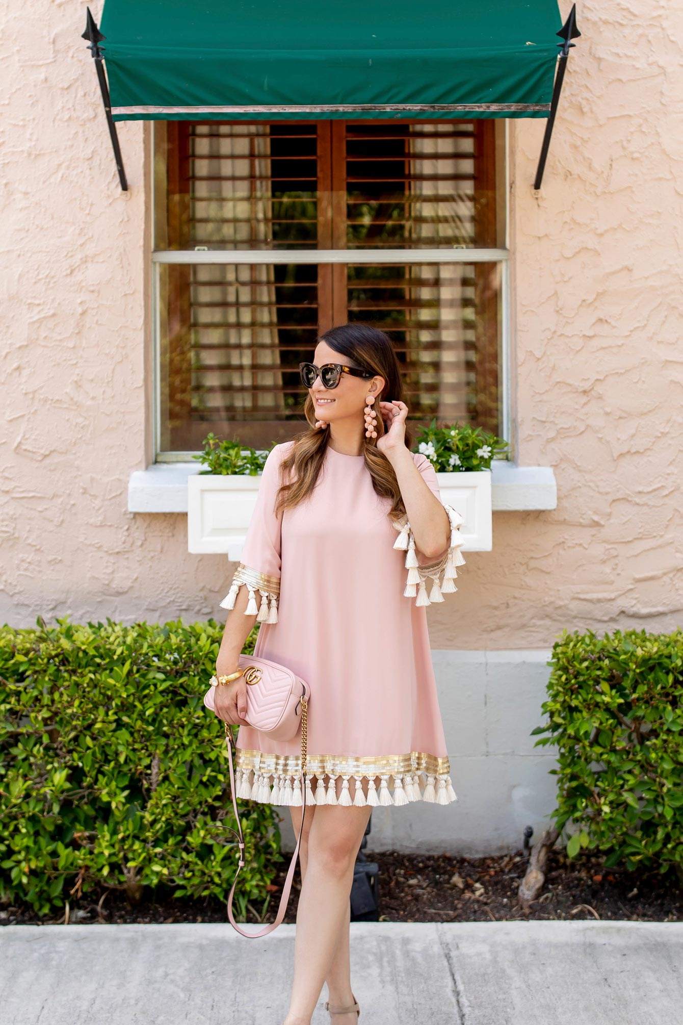 Style Charade Pink Tassel Dress