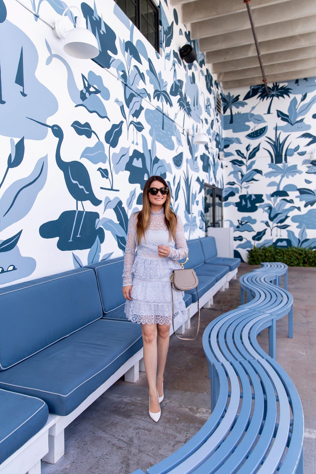 West Palm Beach Blue Mural