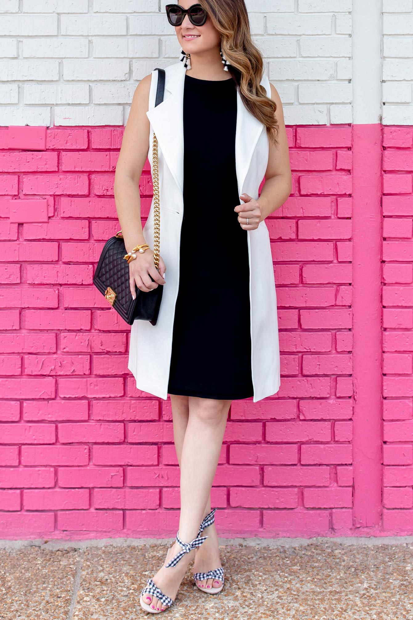 WHBM White Sleeveless Trench