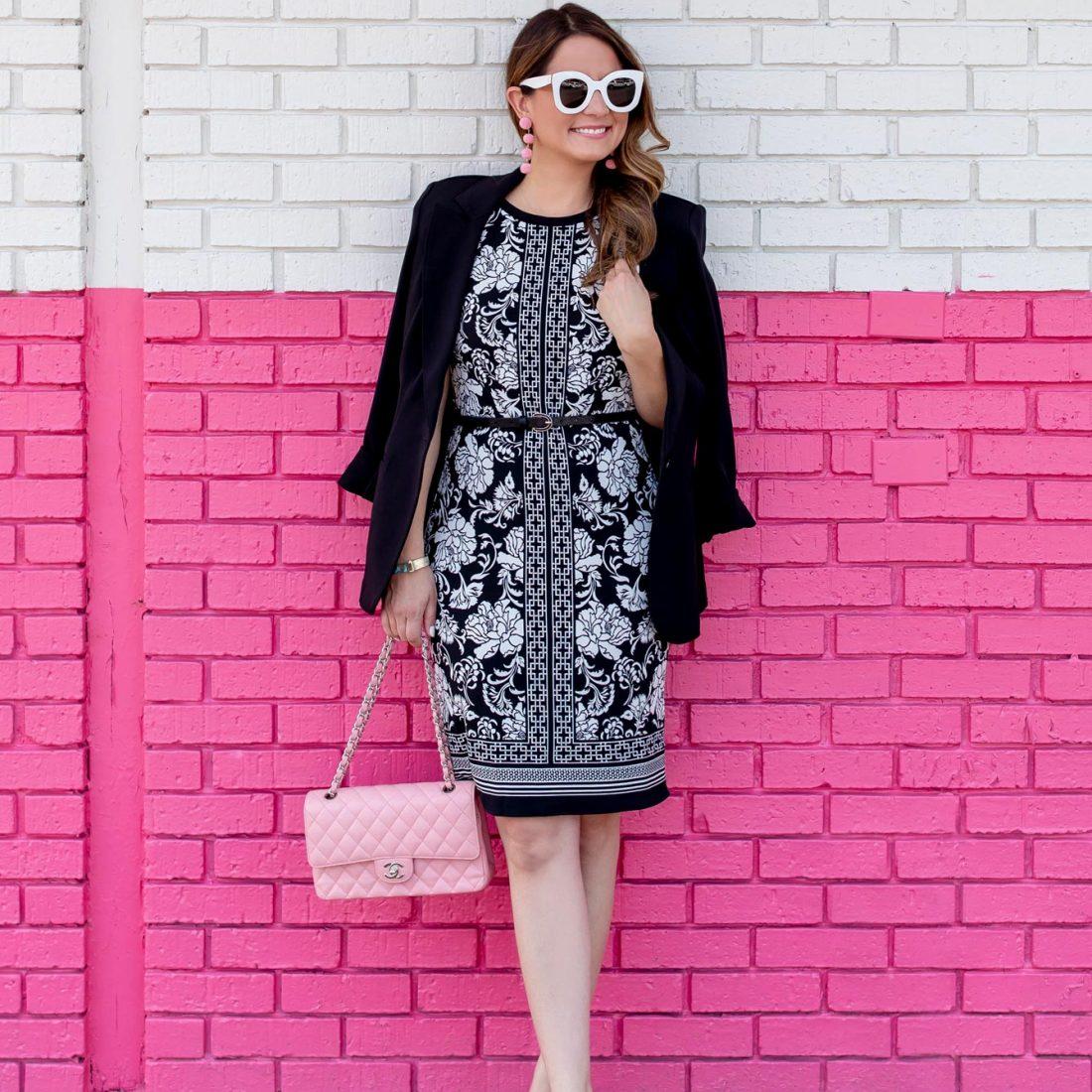 White House Black Market Reversible Shift Dress