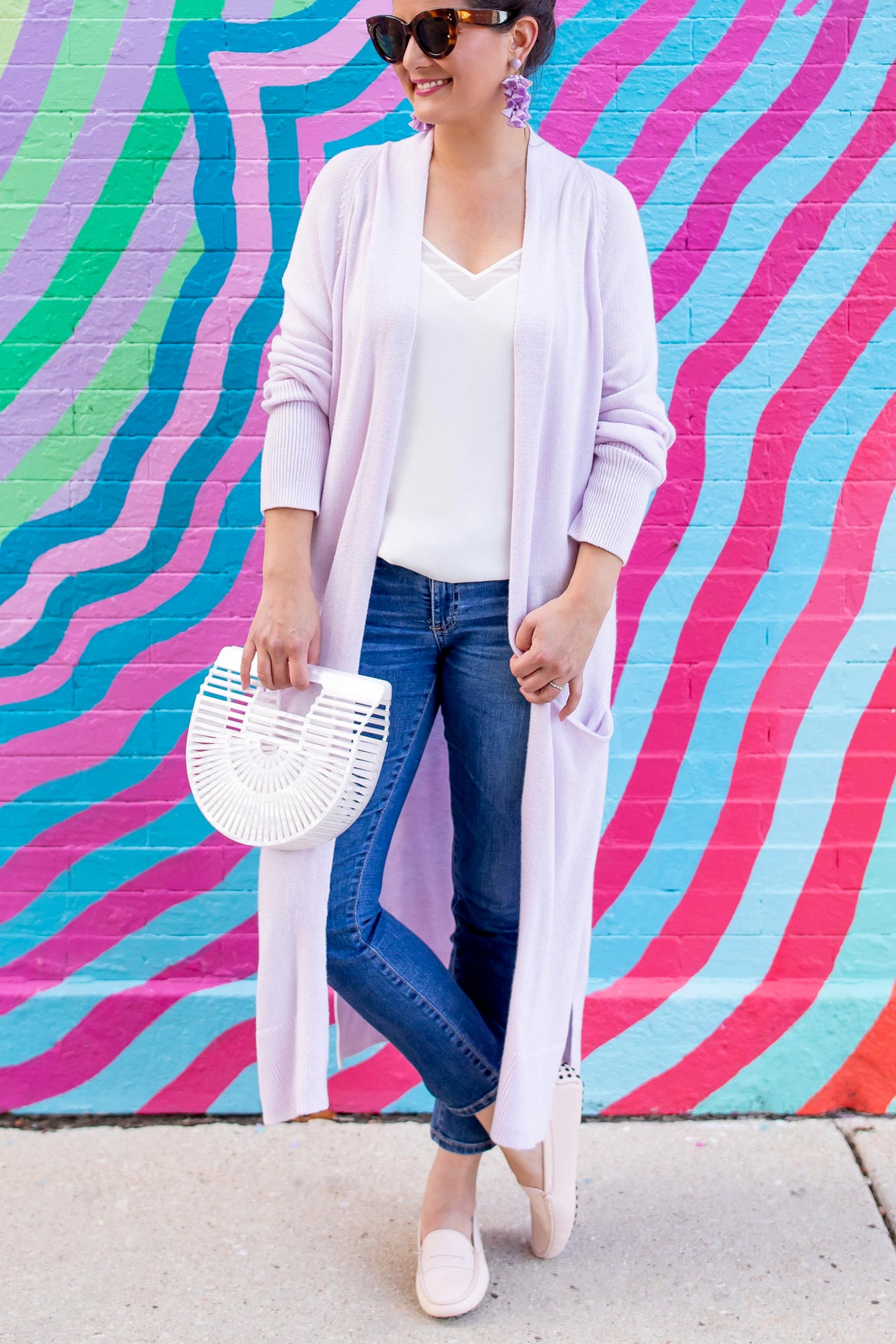 Affordable Lilac Duster Cardigan
